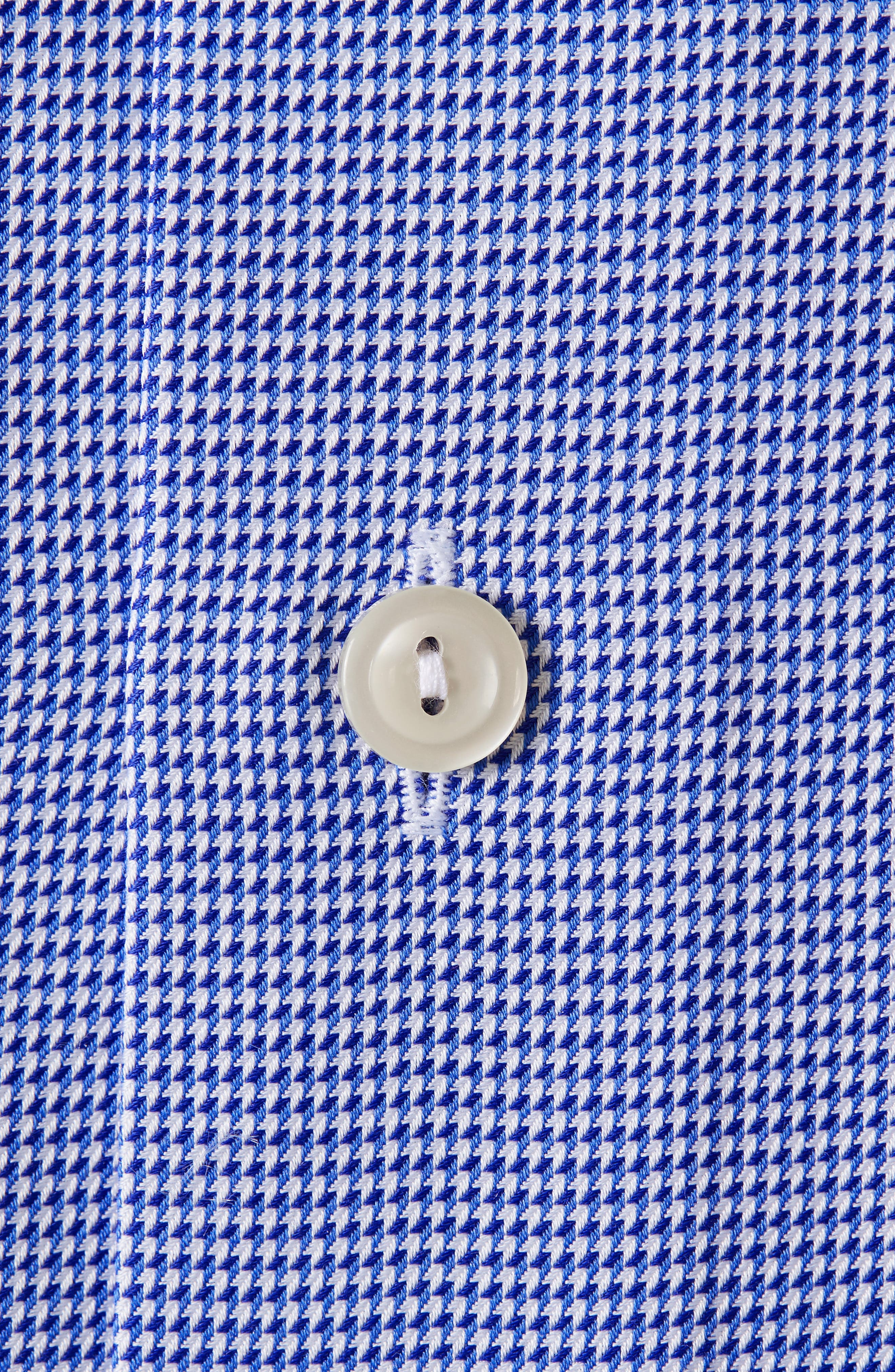 Contemporary Fit Houndstooth Dress Shirt,                             Alternate thumbnail 2, color,                             BLUE
