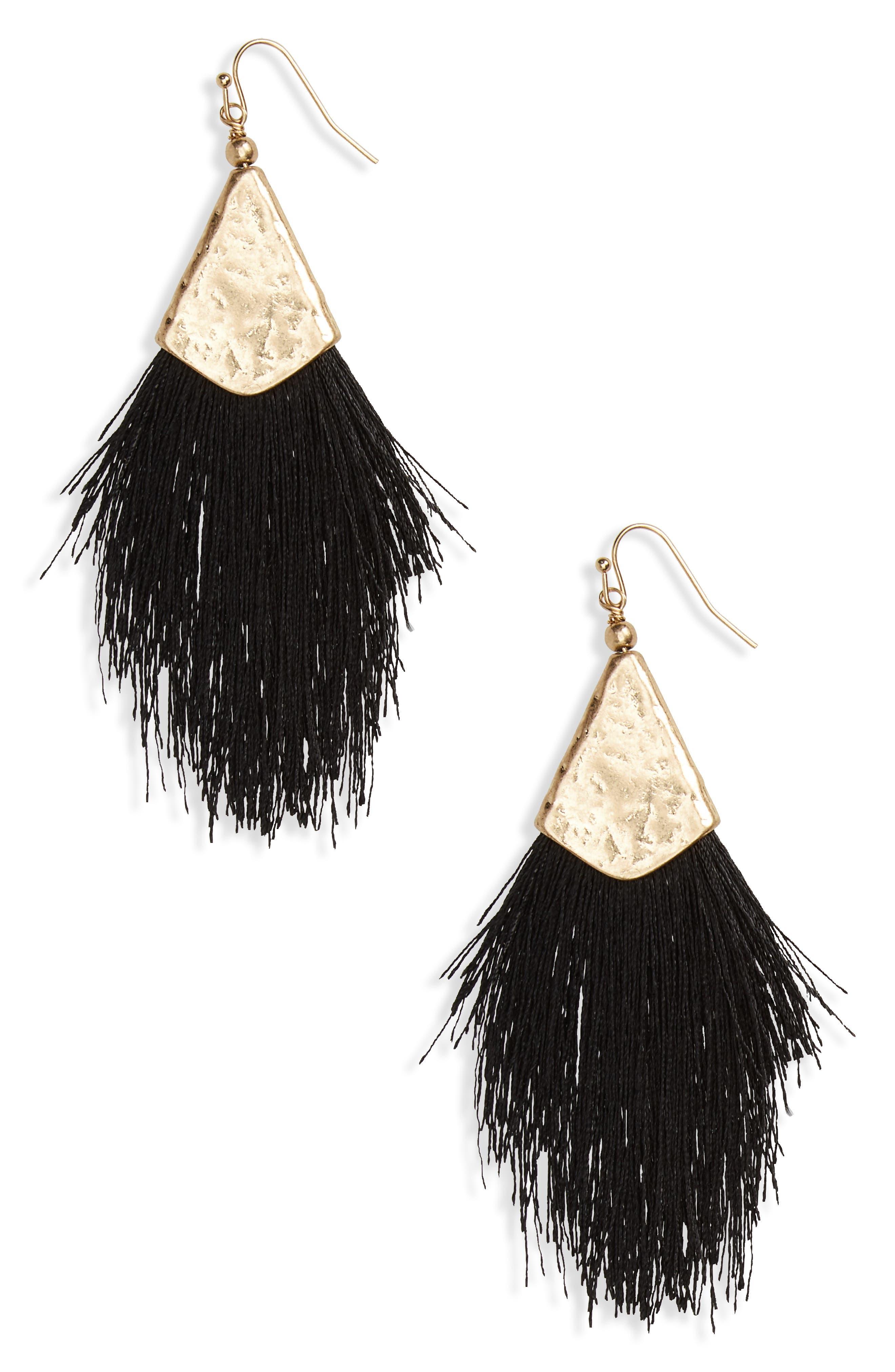 Fan Tassel Earrings,                         Main,                         color,