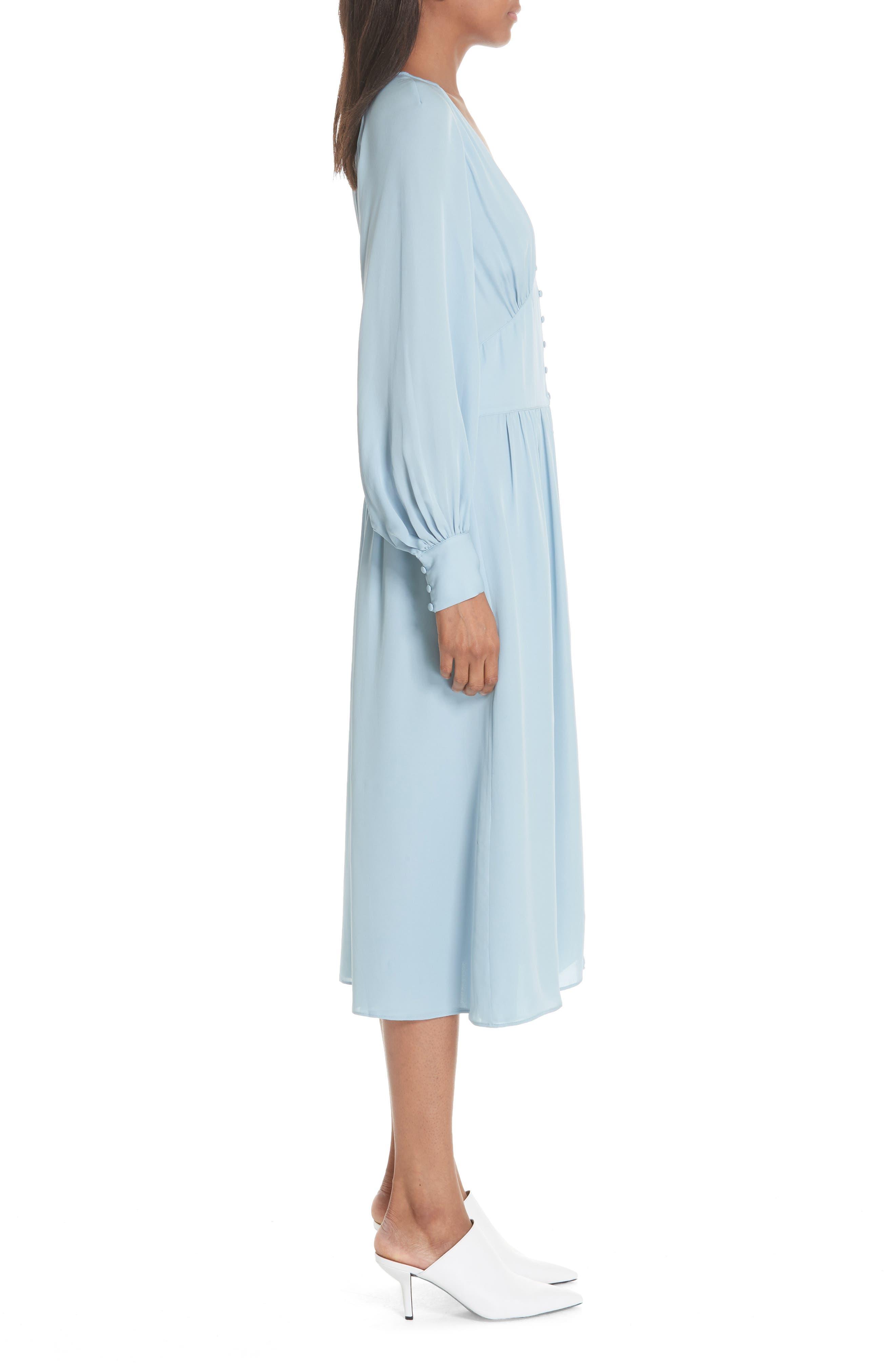 Kyria Silk Midi Dress,                             Alternate thumbnail 3, color,                             400