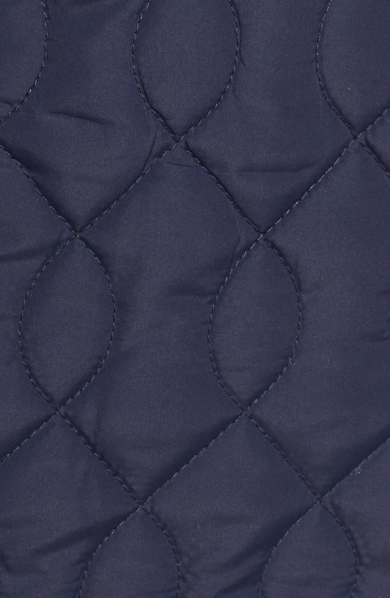 Collarless Quilted Vest,                             Alternate thumbnail 6, color,