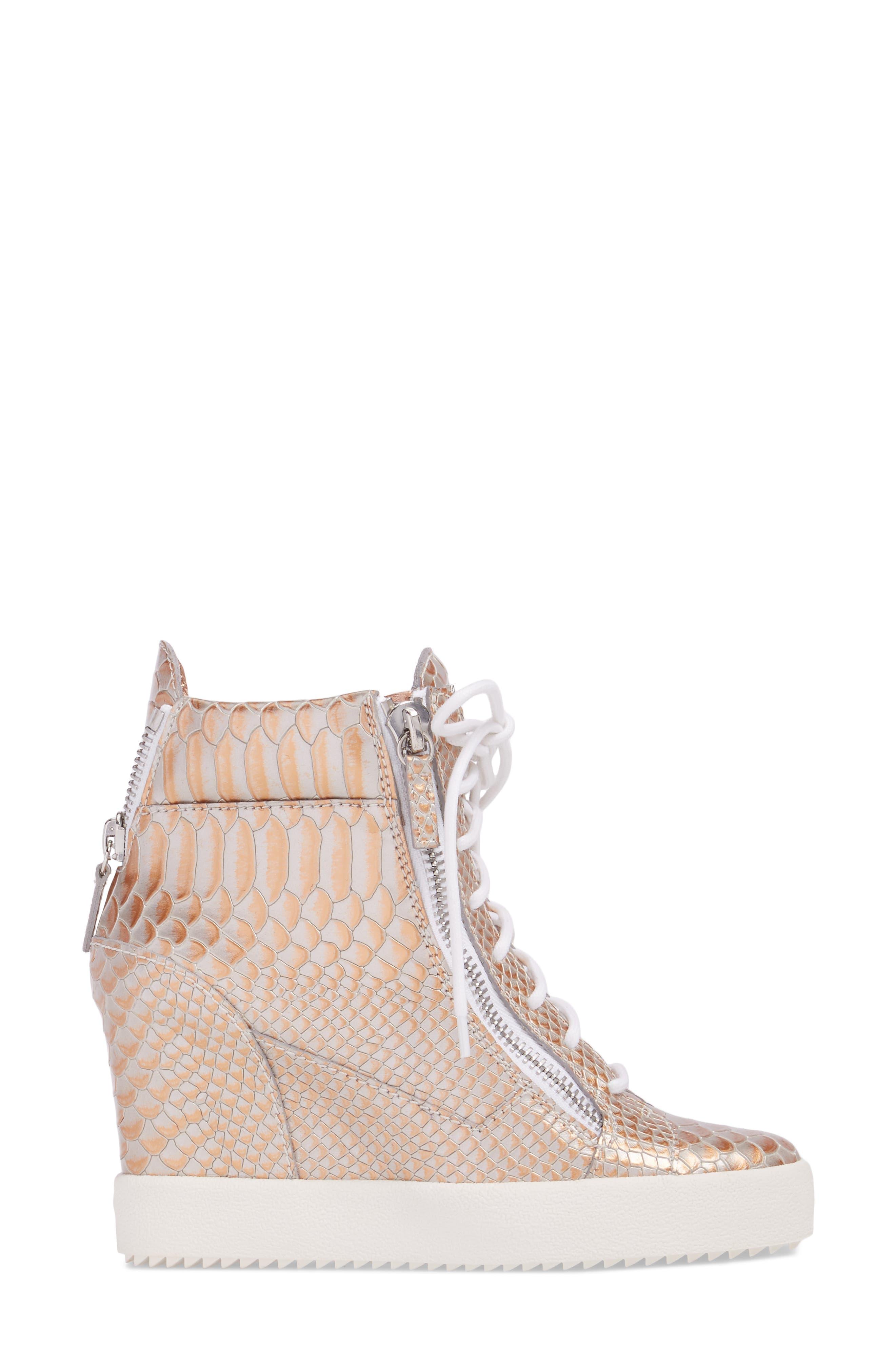 Lamay Lorenz High Top Wedge Sneaker,                             Alternate thumbnail 3, color,                             710