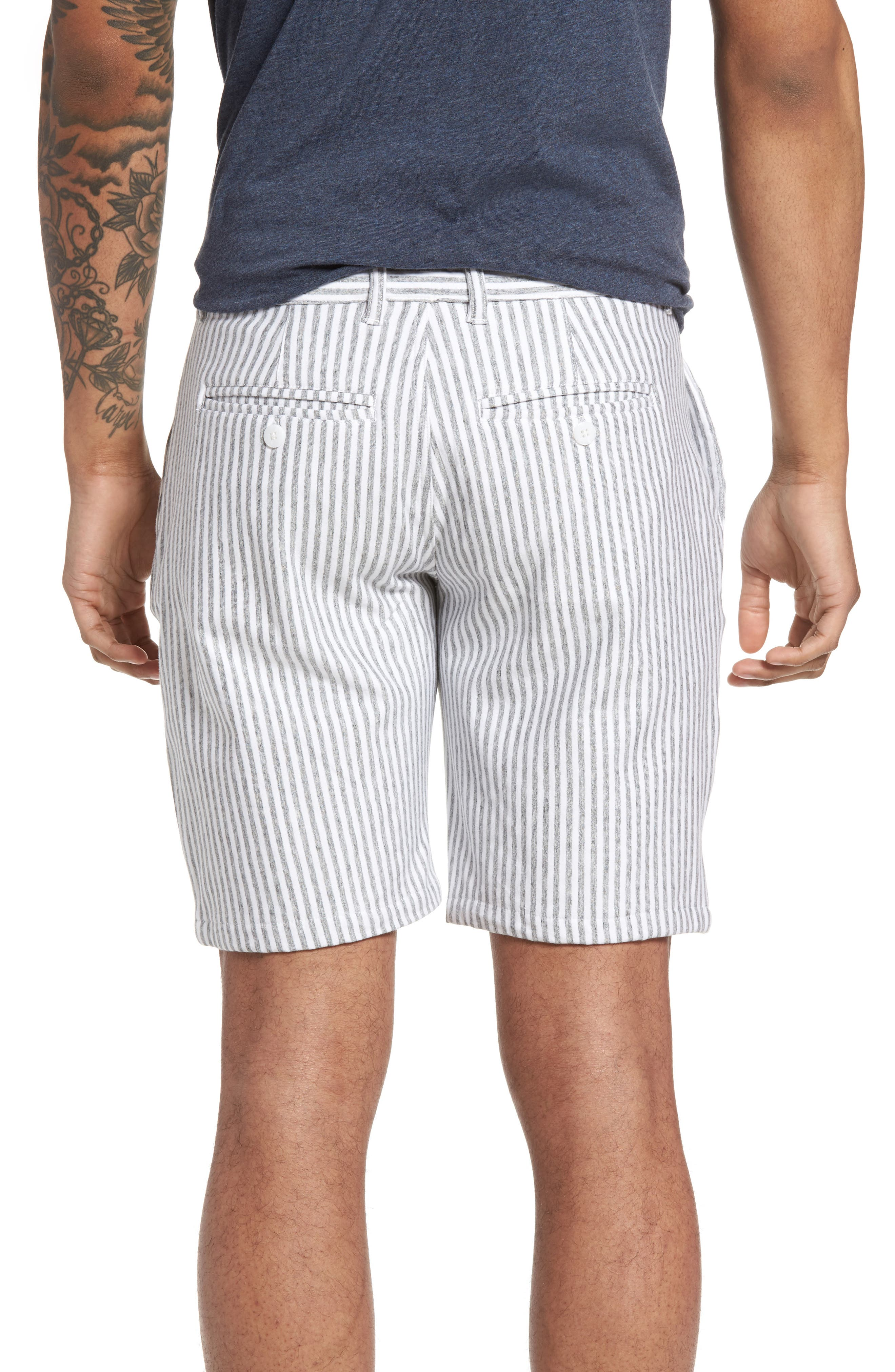 Stripe French Terry Shorts,                             Alternate thumbnail 2, color,