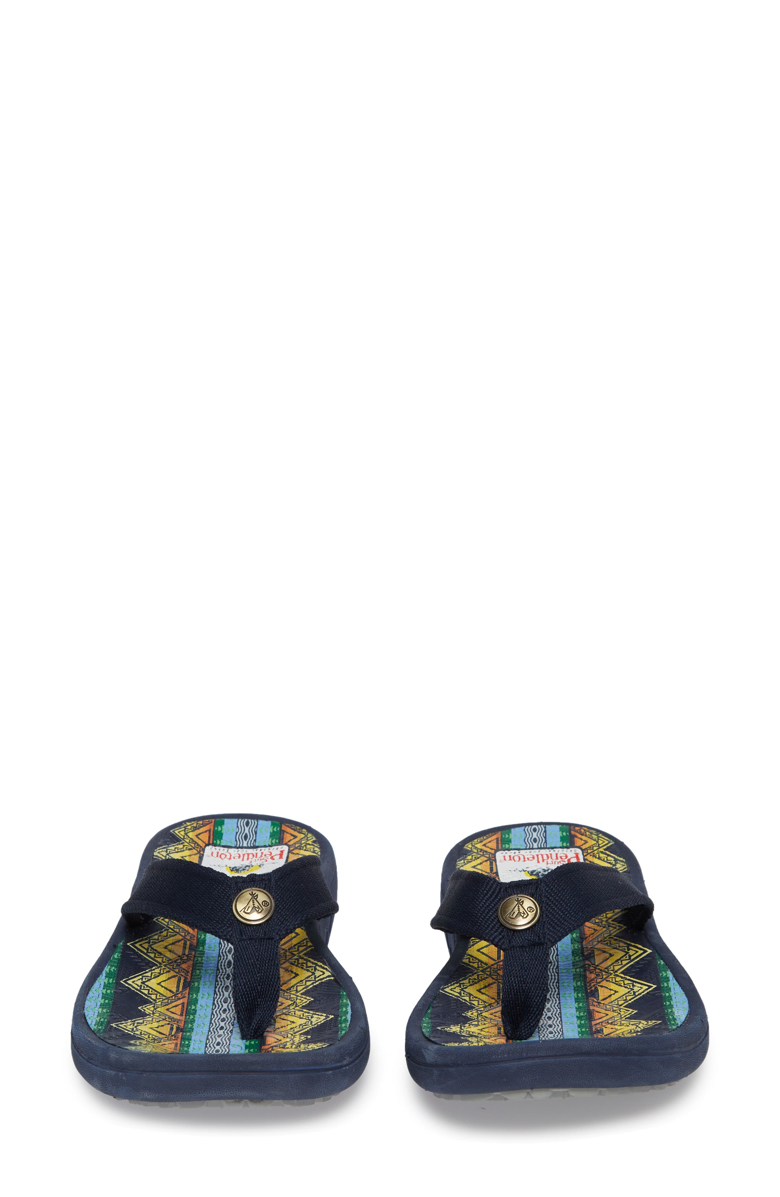 Pendleton American Treasures Flip Flop,                             Alternate thumbnail 5, color,                             NAVY