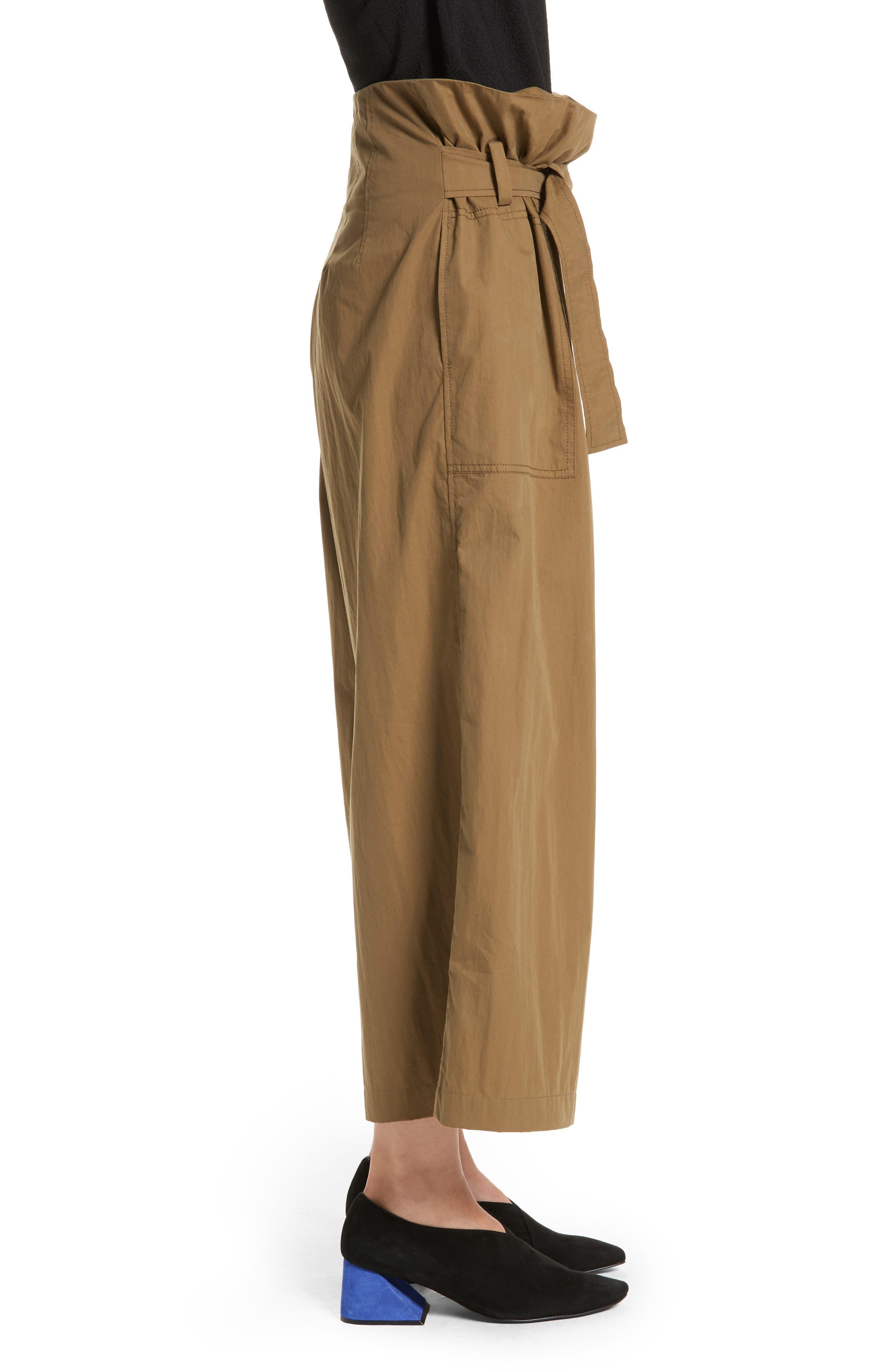 Tilly Belted Paperbag Pants,                             Alternate thumbnail 3, color,                             310