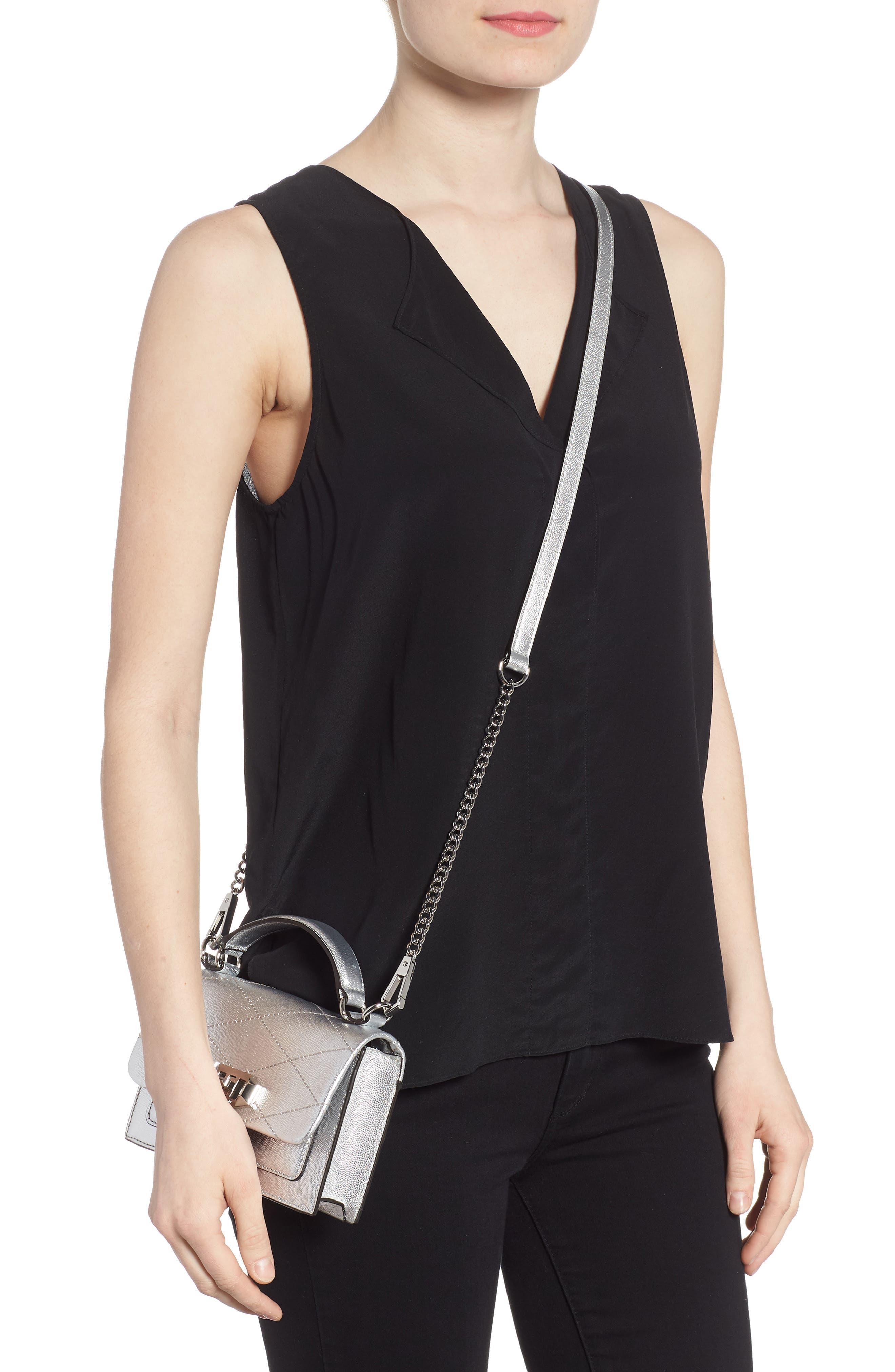 Small Je T'aime Leather Crossbody Bag,                             Alternate thumbnail 7, color,