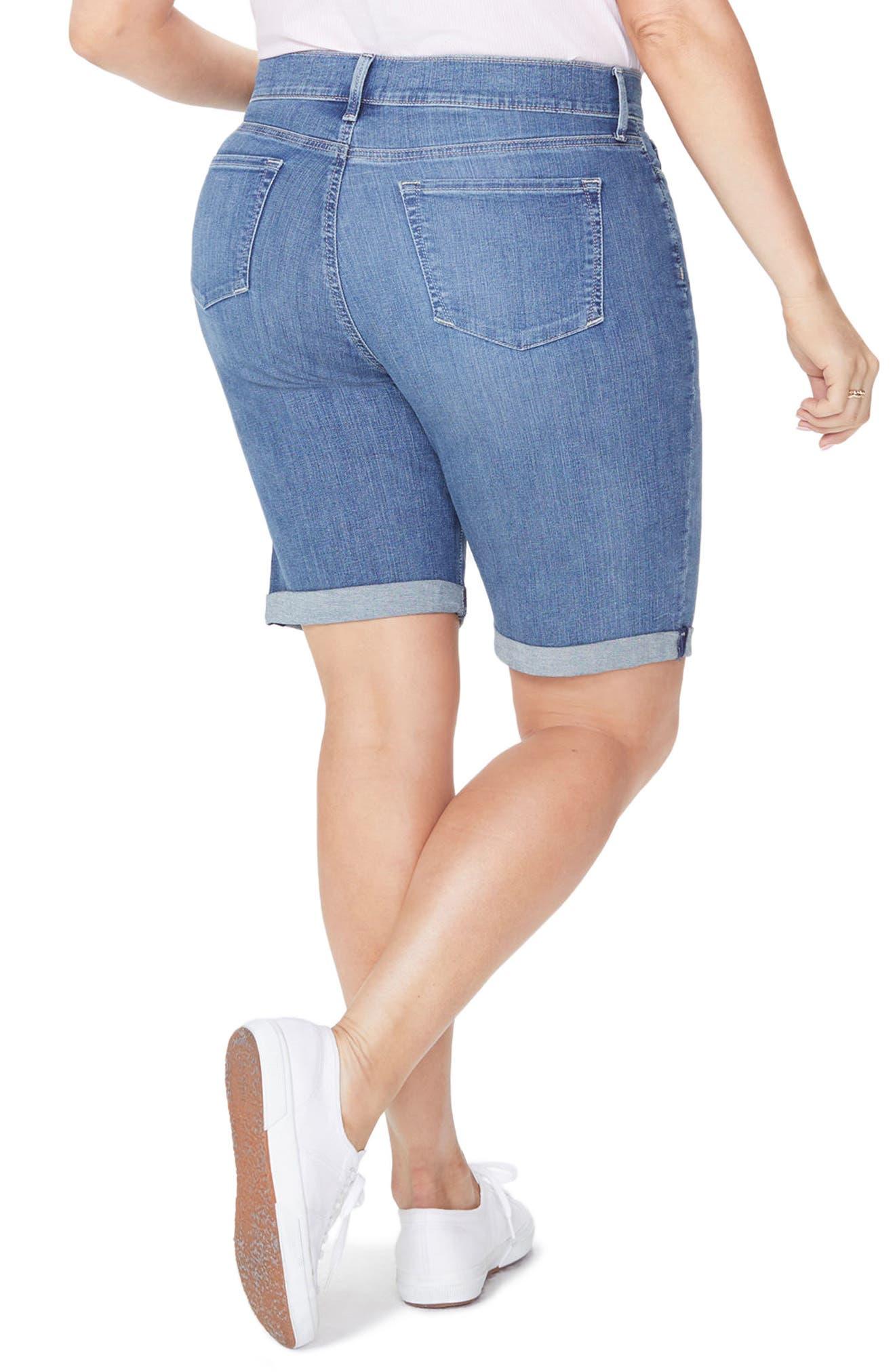 Briella Roll Cuff Stretch Denim Shorts,                             Alternate thumbnail 2, color,
