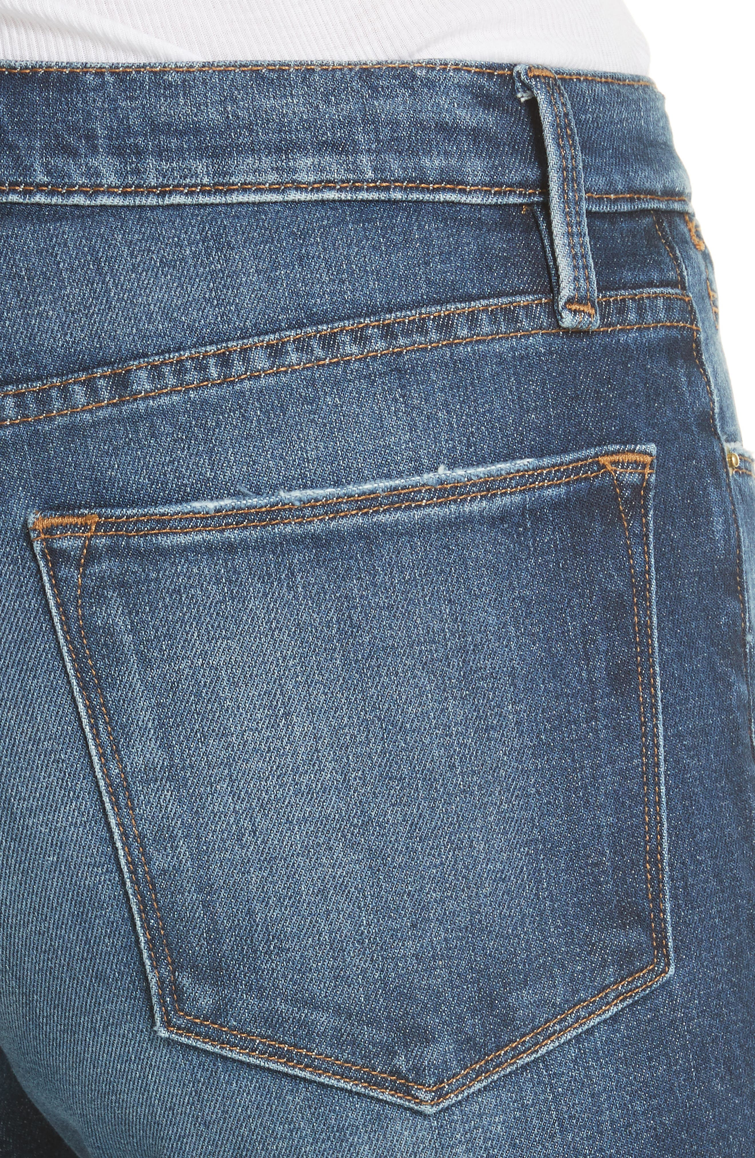 Le High Straight Leg Jeans,                             Alternate thumbnail 4, color,                             401