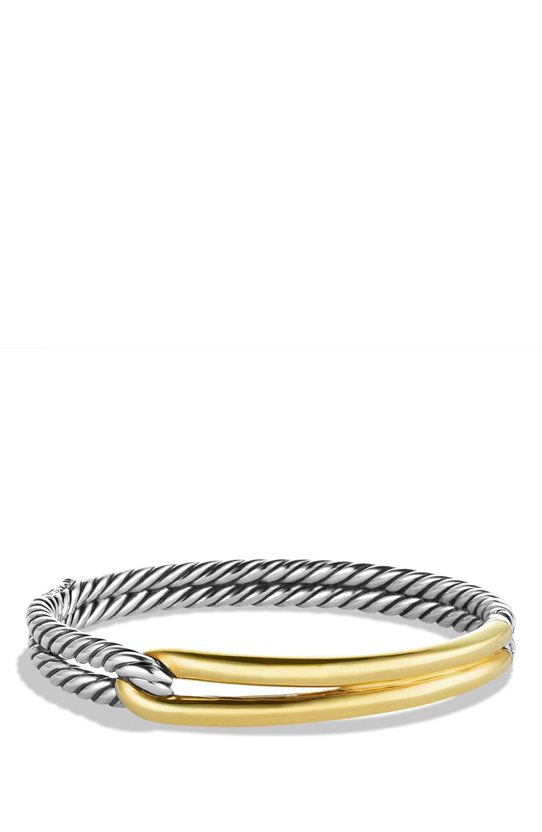 'Labyrinth' Single-Loop Bracelet with Gold,                             Main thumbnail 1, color,                             TWO TONE