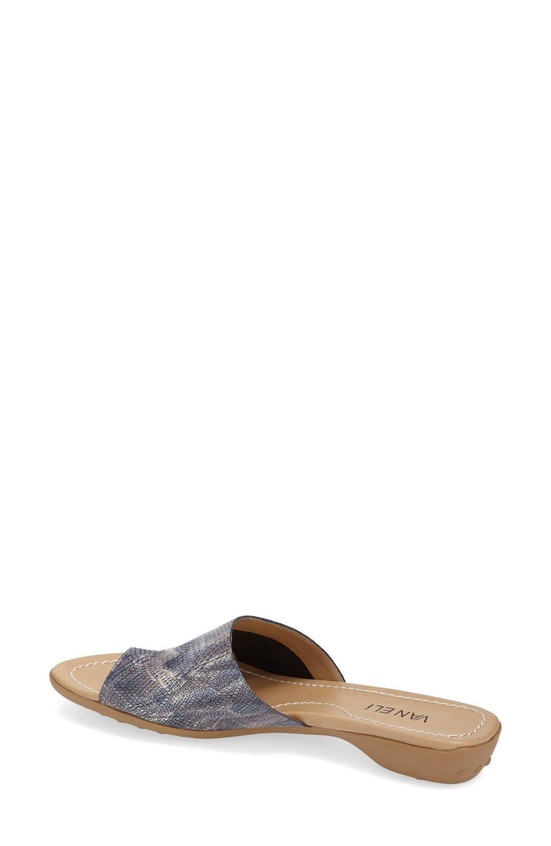 'Tallis' Snake Embossed Leather Slide Sandal,                             Alternate thumbnail 18, color,