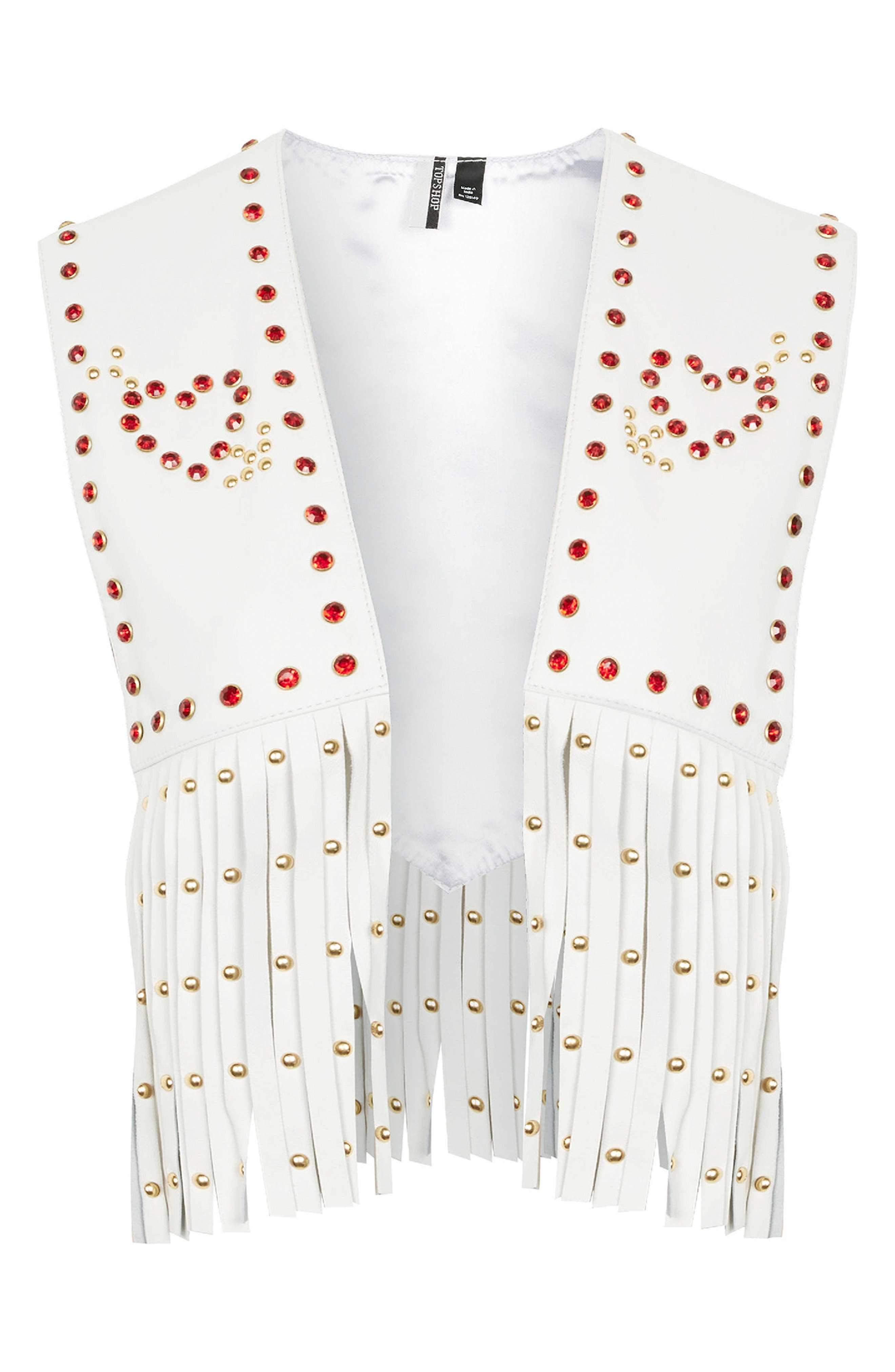 Sacred Heart Festival Leather Waistcoat,                             Alternate thumbnail 3, color,