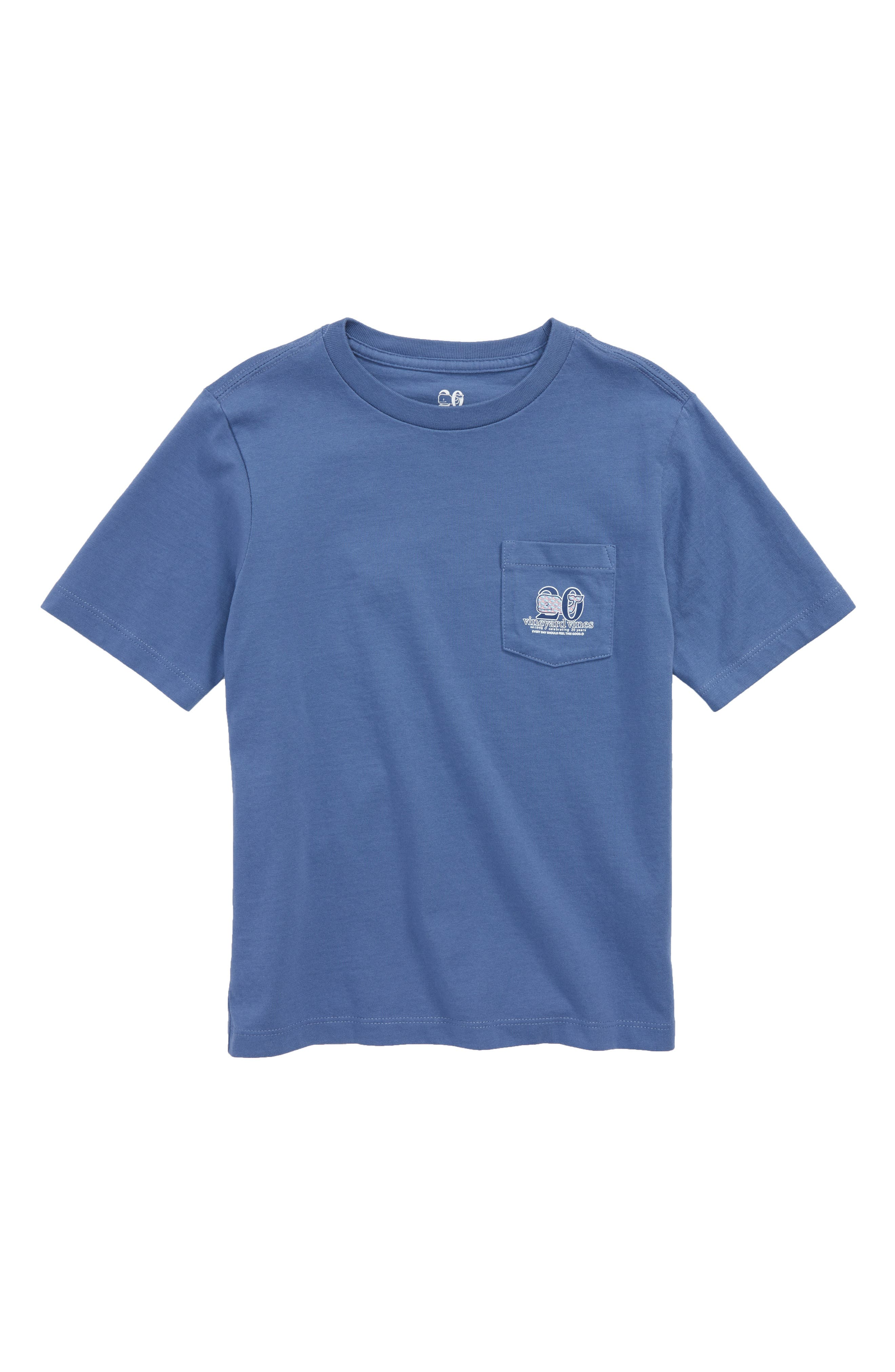 Patchwork Whale Pocket T-Shirt,                             Main thumbnail 1, color,                             MOONSHINE