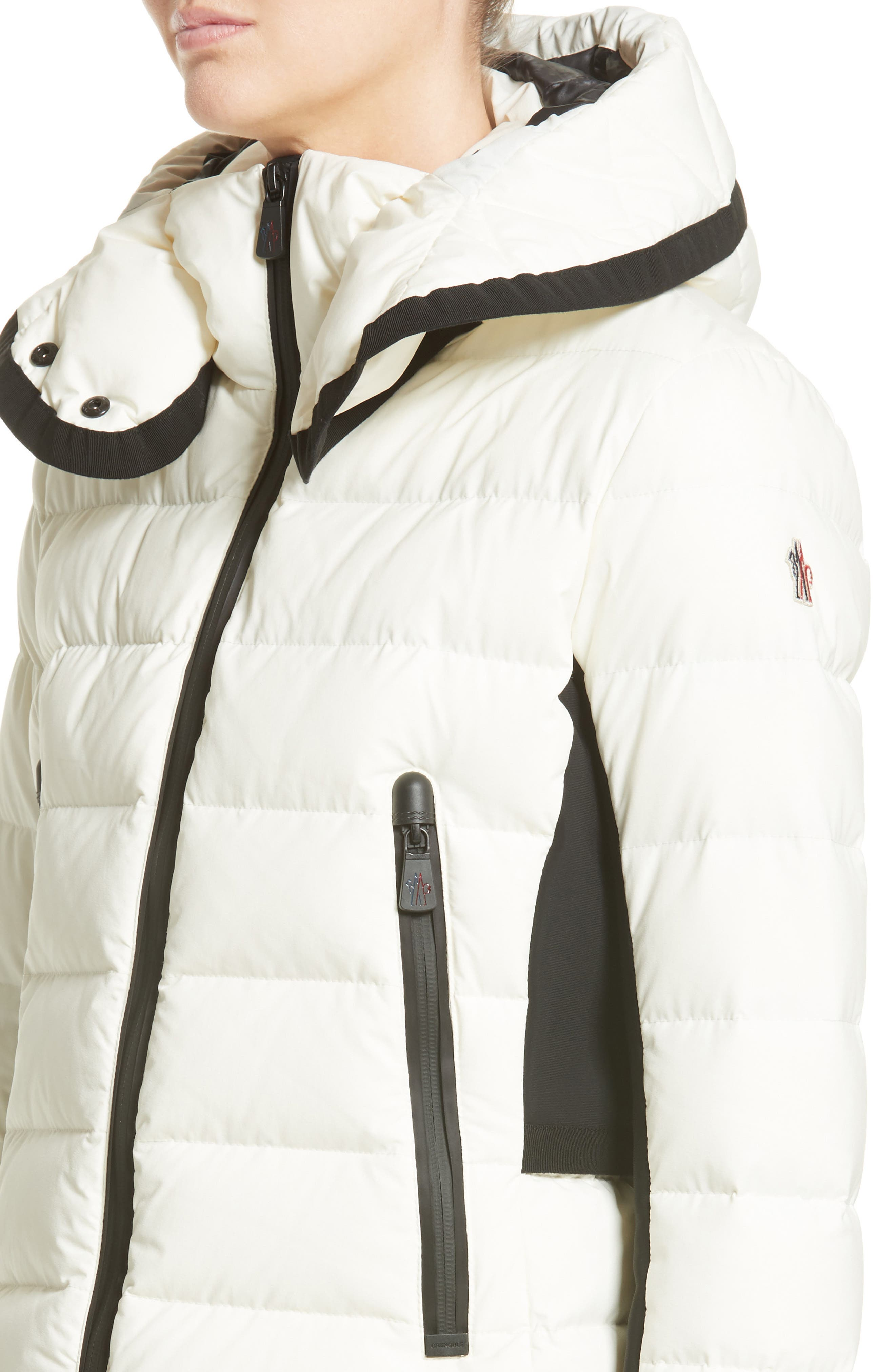 Lamoura Quilted Down Puffer Coat,                             Alternate thumbnail 4, color,                             WHITE