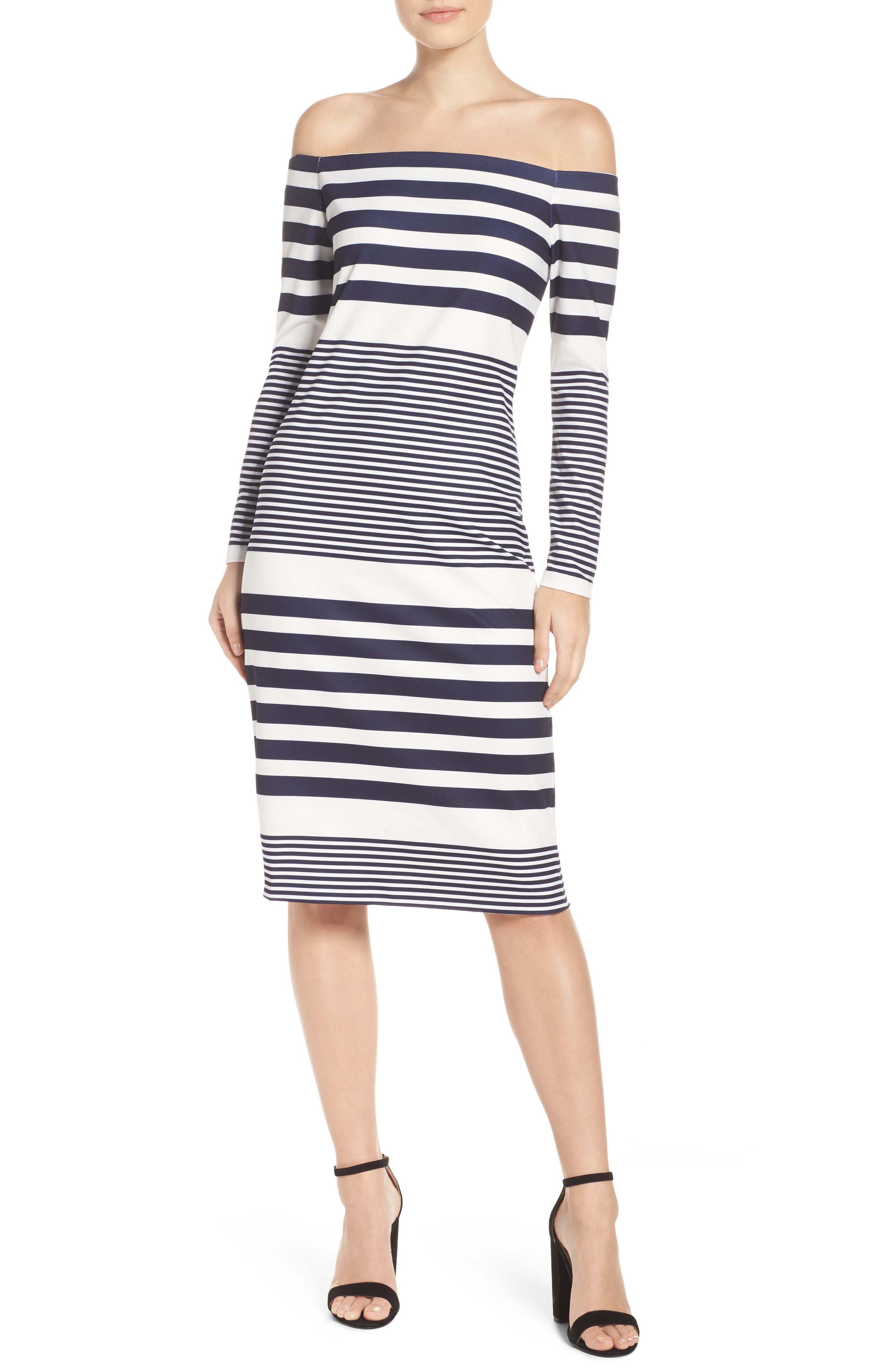 Off the Shoulder Midi Dress,                         Main,                         color, 112