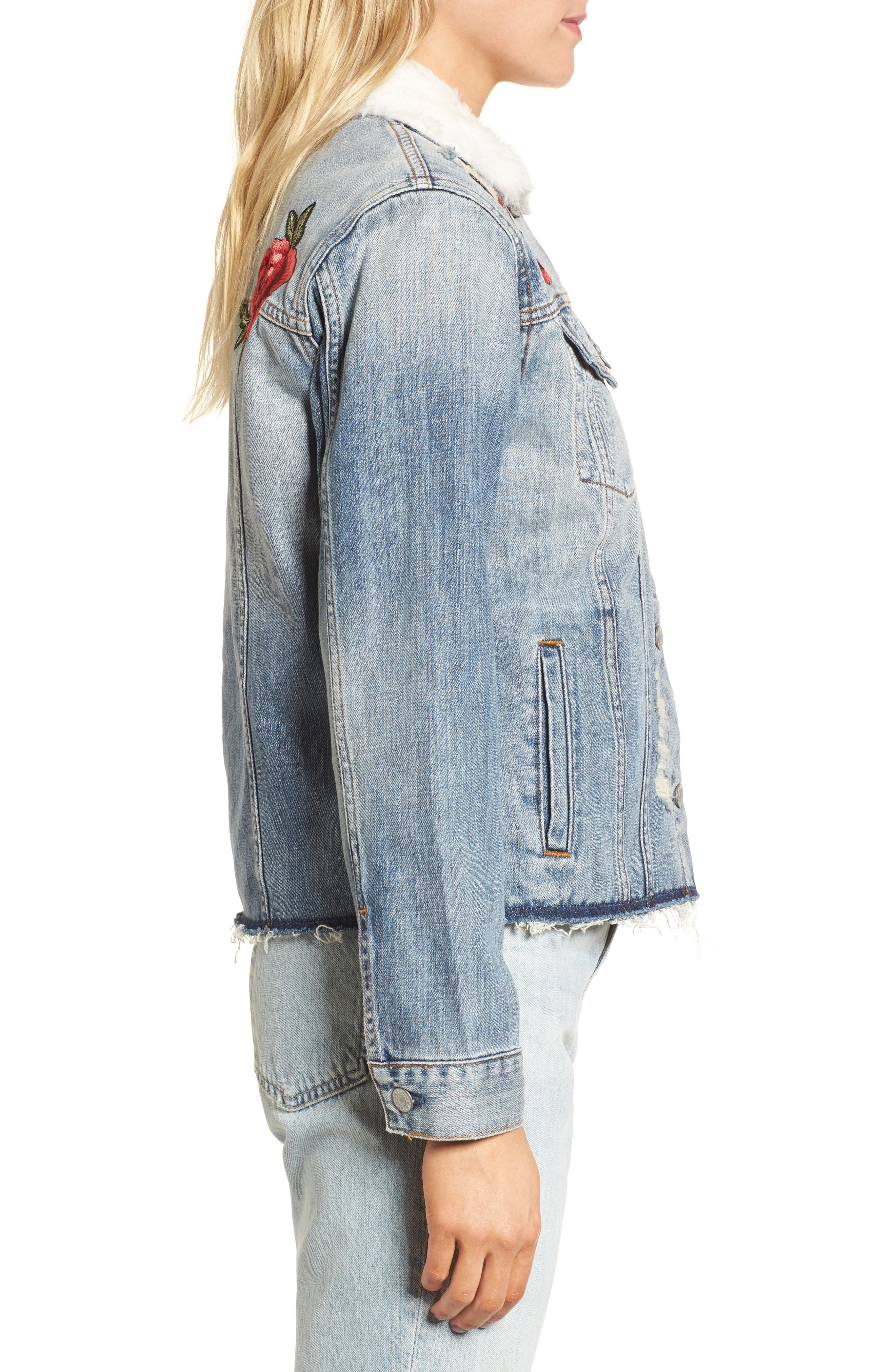 Ramsey Embroidered Denim Jacket,                             Alternate thumbnail 3, color,                             493