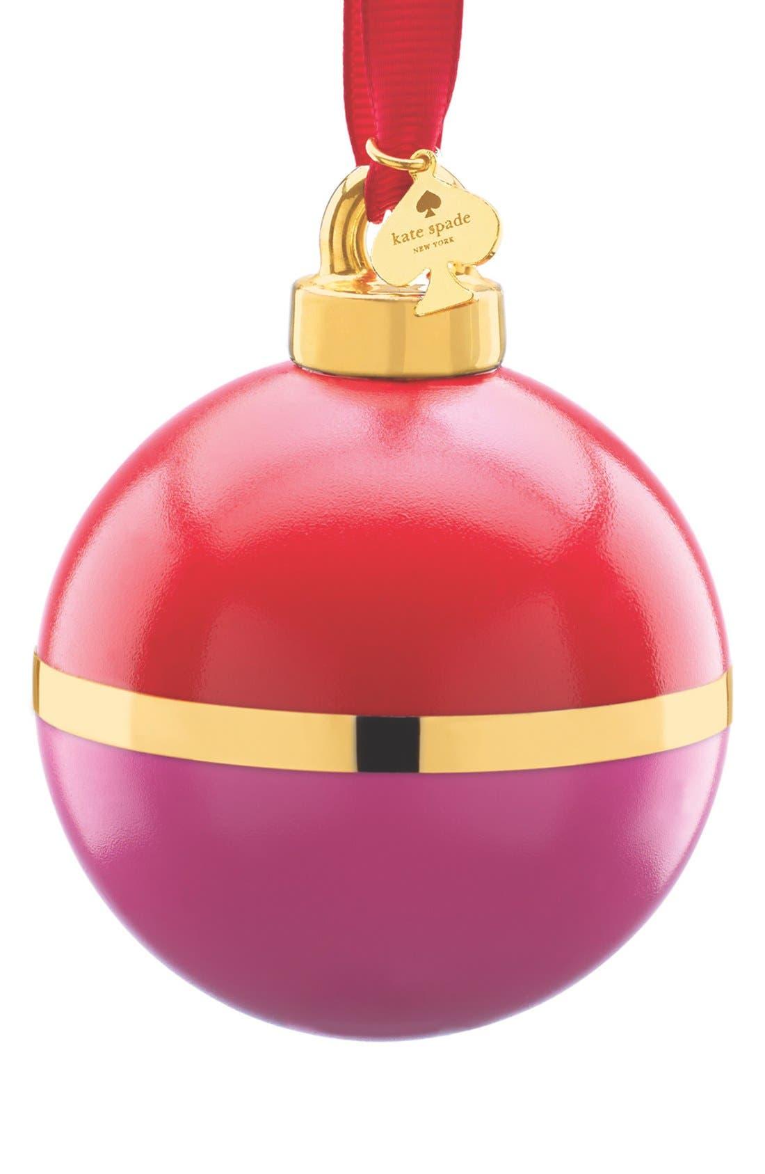 KATE SPADE NEW YORK pink & orange globe ornament, Main, color, 650