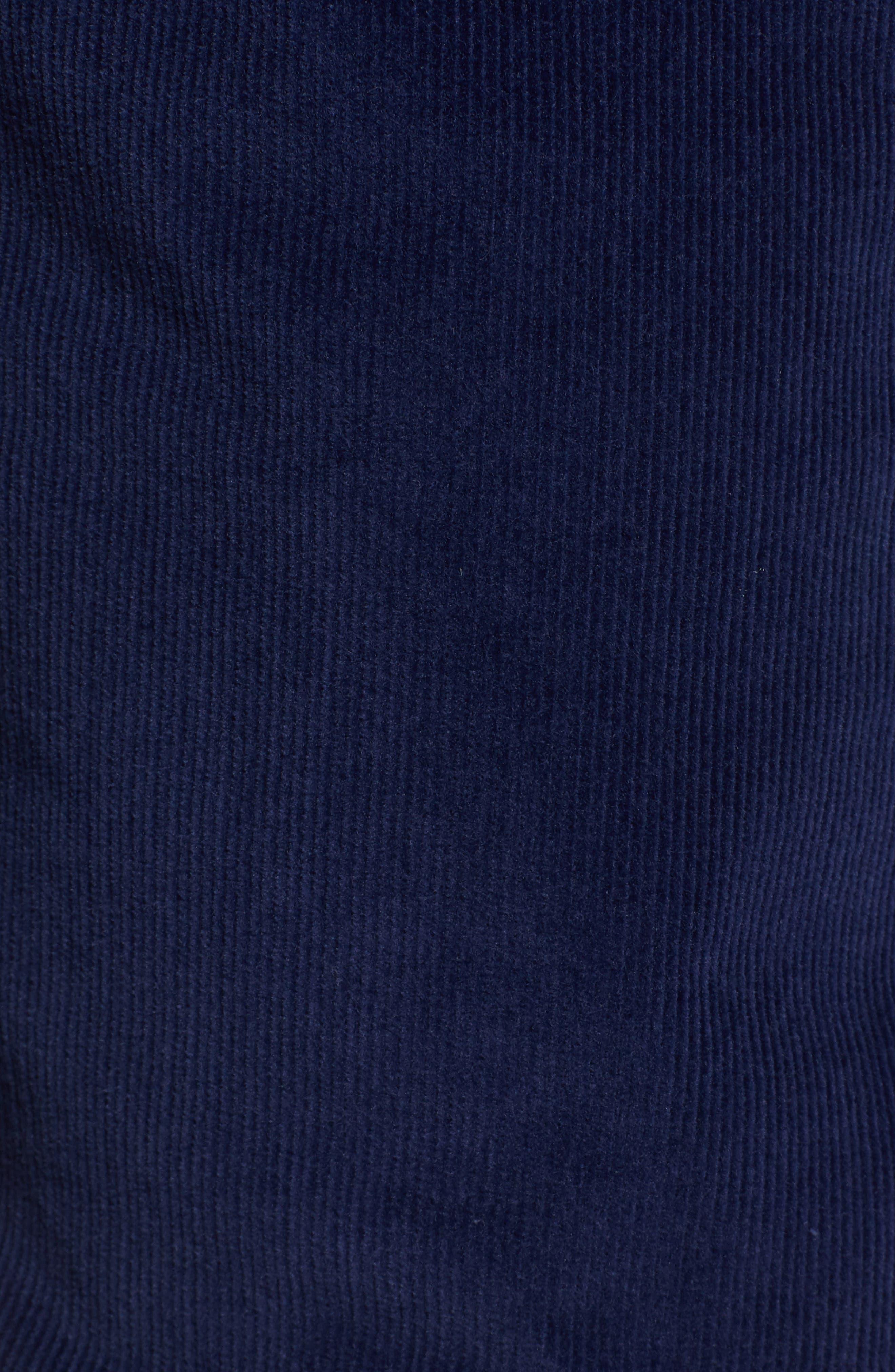 Slim Fit Corduroy Jeans,                             Alternate thumbnail 5, color,                             MIDNIGHT