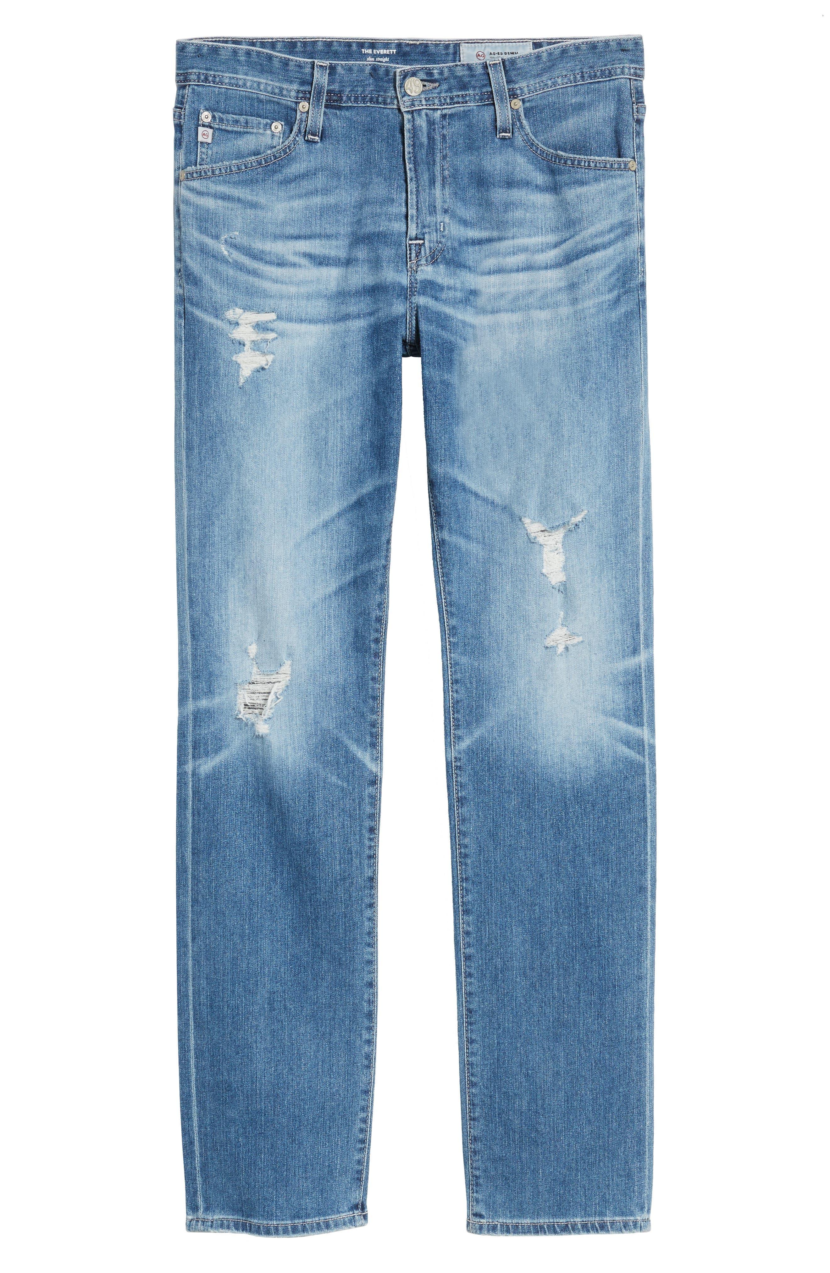 Everett Slim Straight Leg Jeans,                             Alternate thumbnail 6, color,                             15 YEARS SWEPT UP