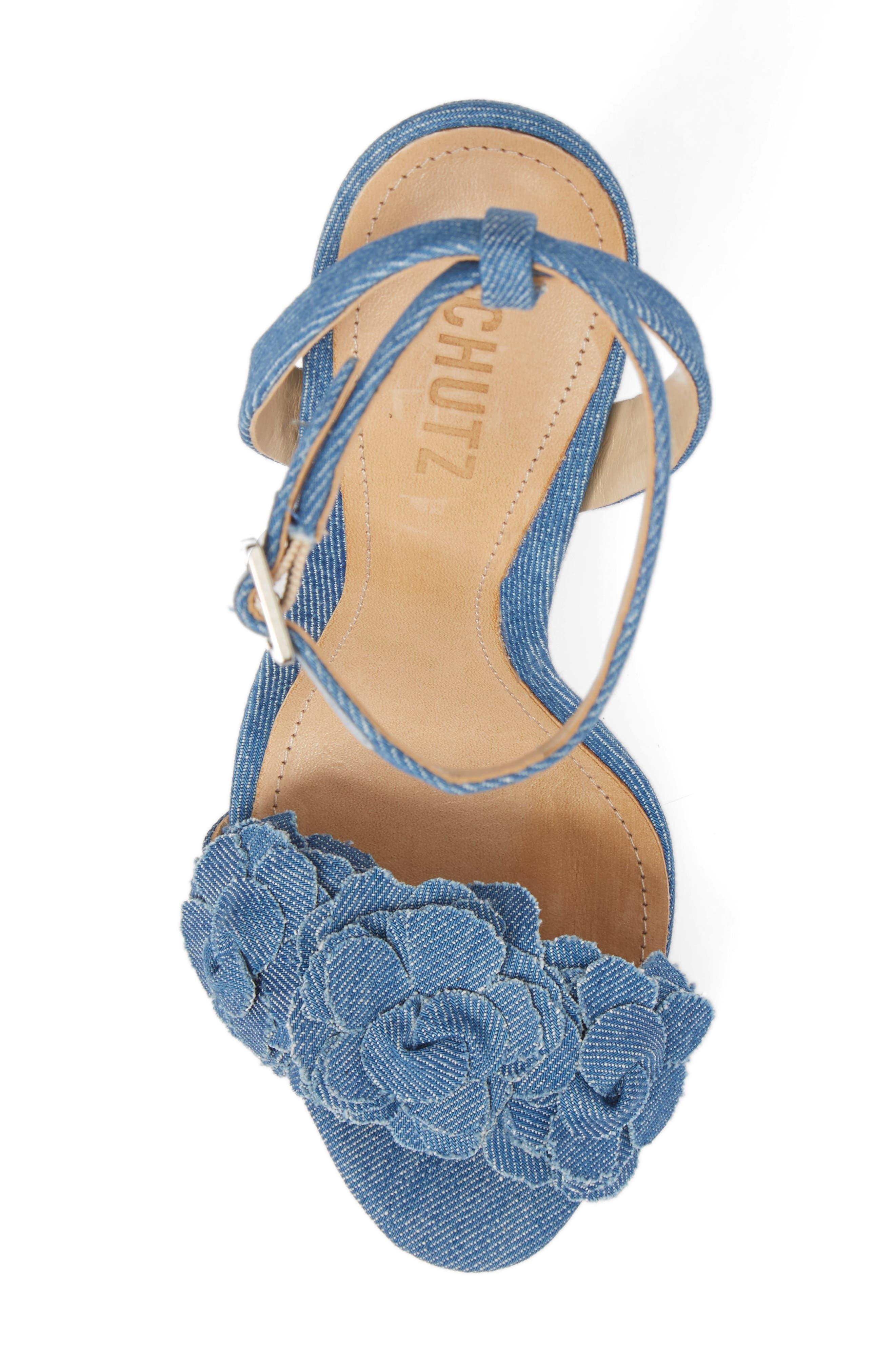 Aida Flower Appliqué Sandal,                             Alternate thumbnail 14, color,