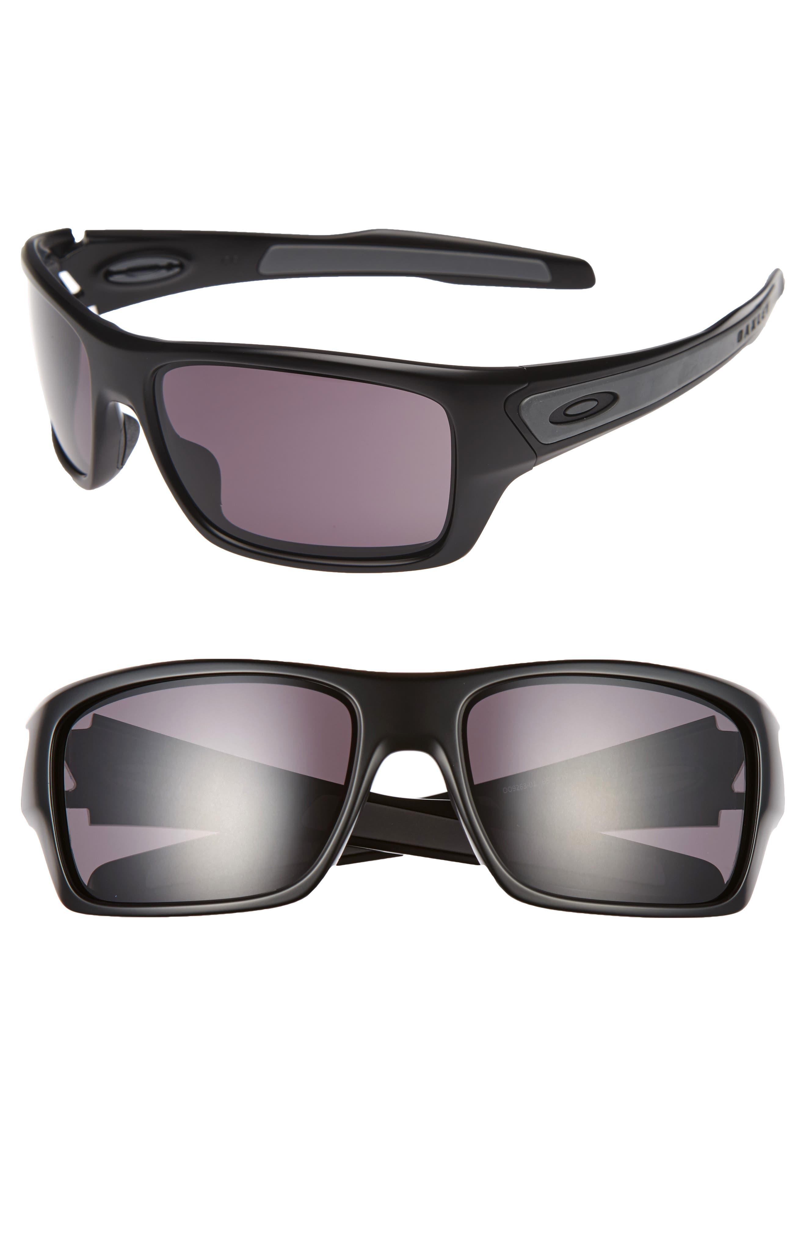 Turbine 65mm Sunglasses,                             Alternate thumbnail 3, color,                             BLACK