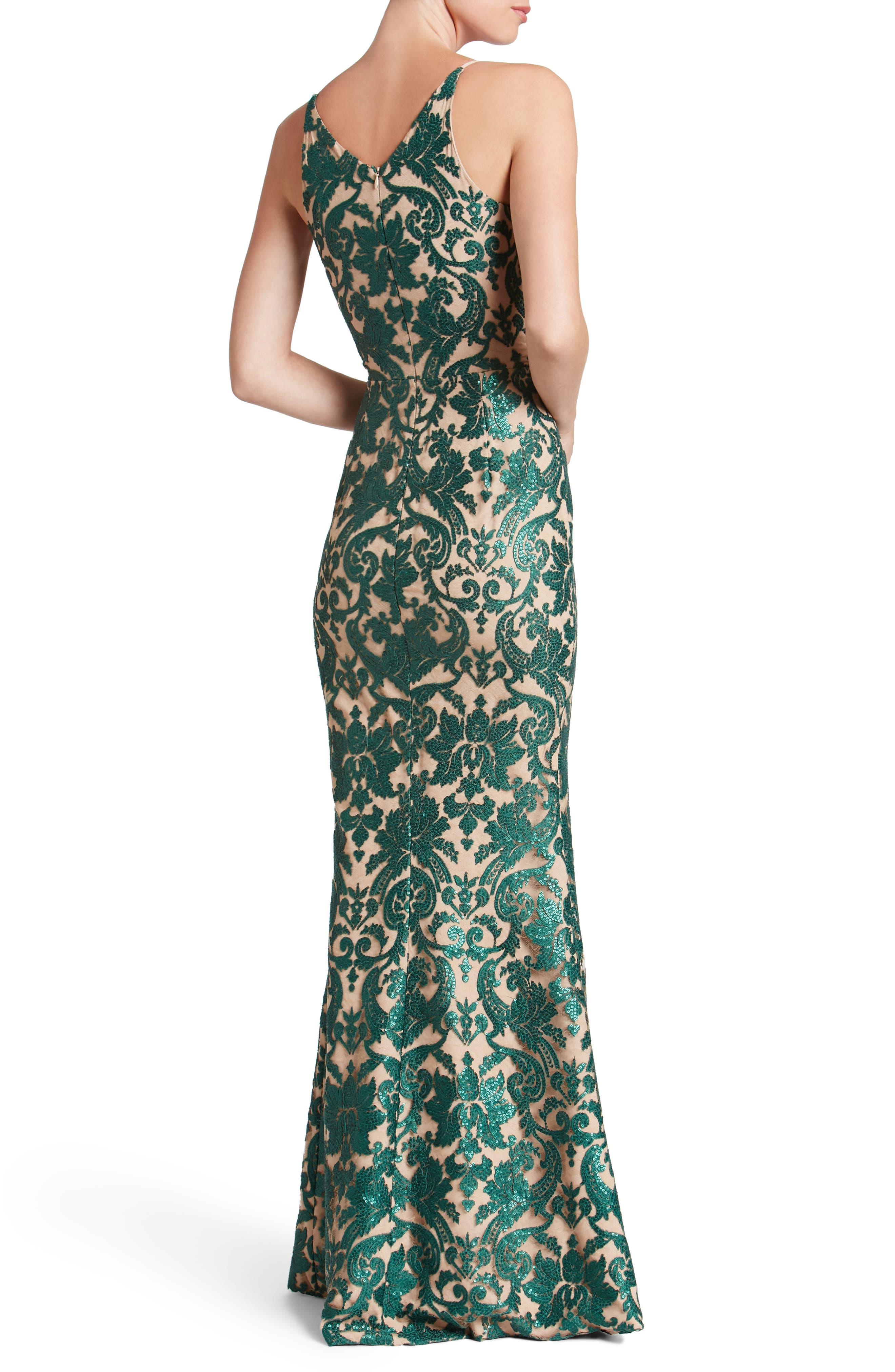 Karen Mermaid Gown,                             Alternate thumbnail 9, color,