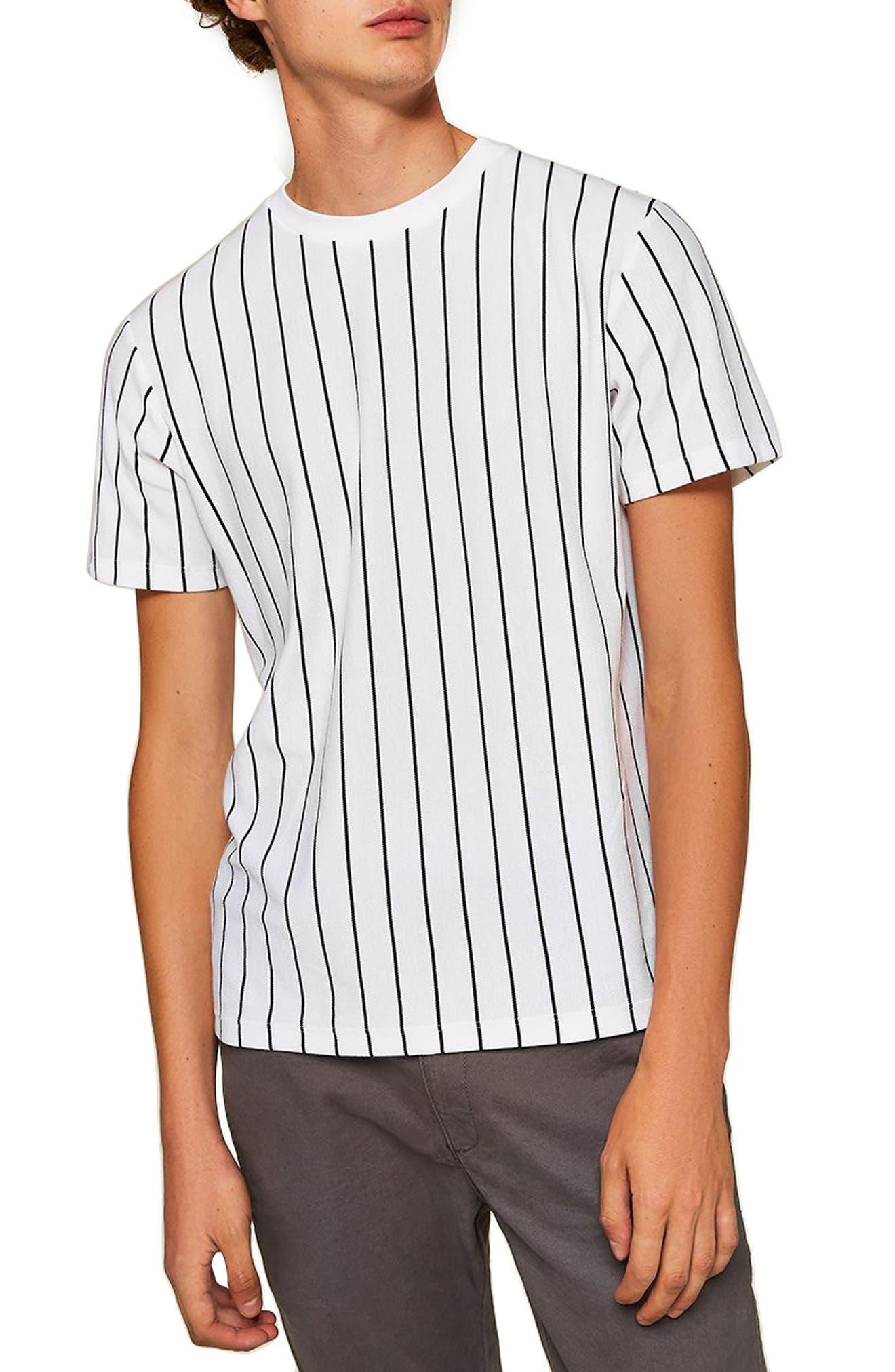 Stripe T-Shirt,                             Main thumbnail 1, color,                             WHITE MULTI