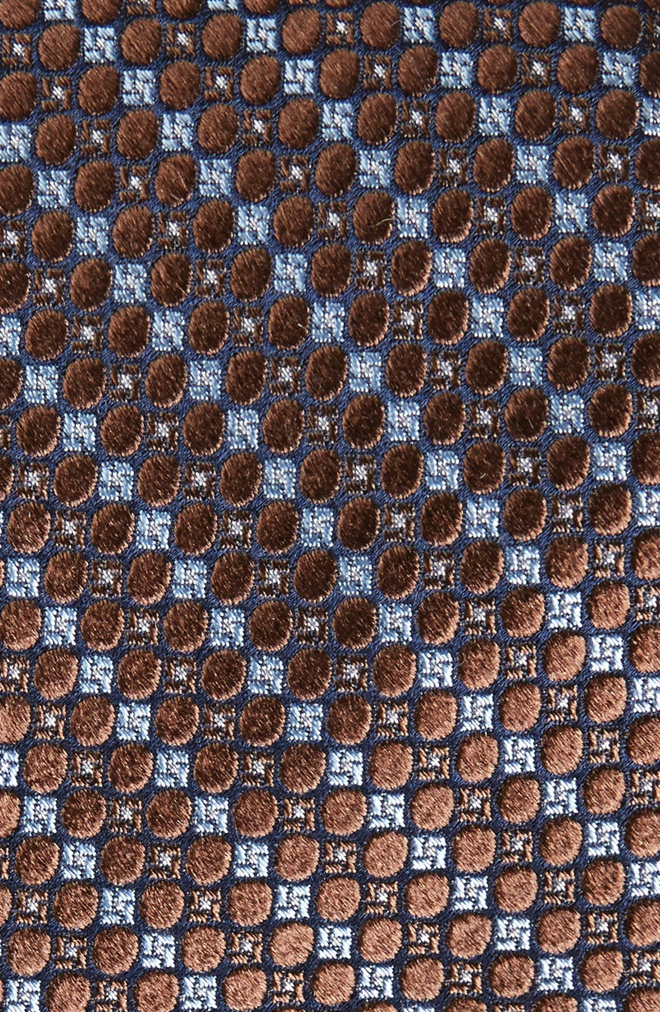 Carter Dot Silk Tie,                             Alternate thumbnail 2, color,                             BROWN