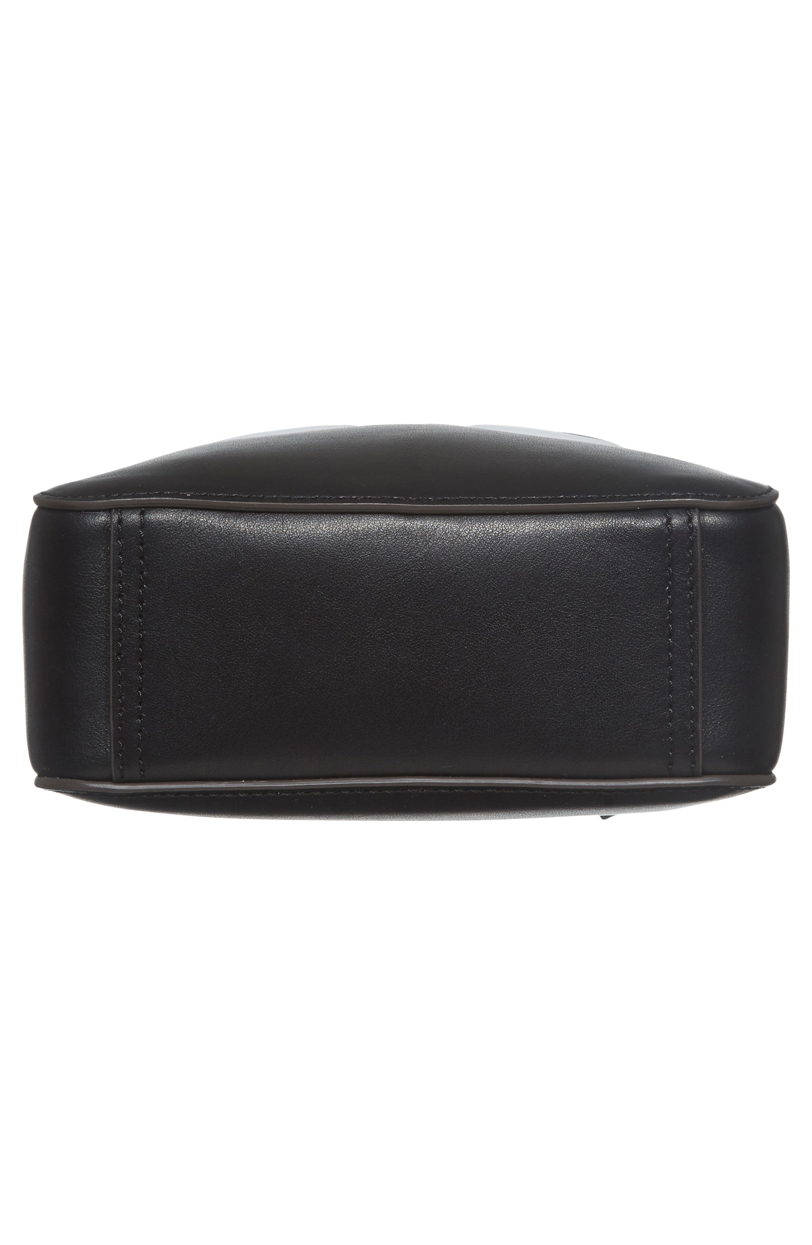Eyes Camera Leather Crossbody Bag,                             Alternate thumbnail 6, color,                             BLACK