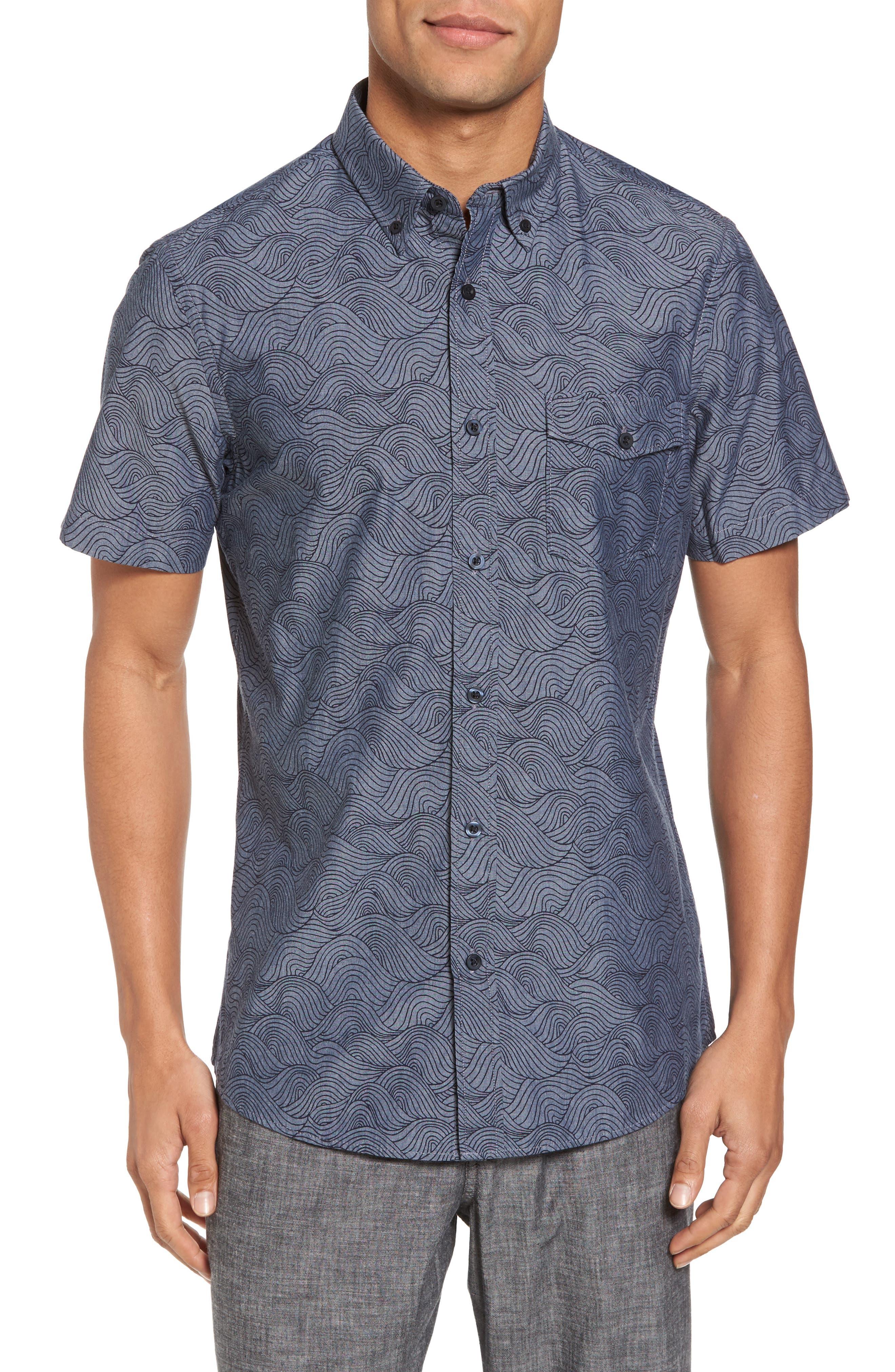 Trim Fit Ivy Print Sport Shirt,                         Main,                         color,