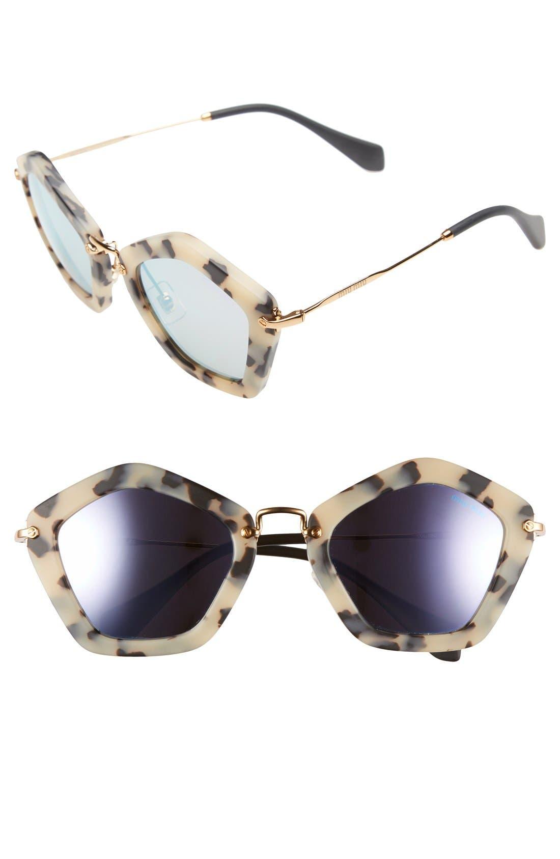 'Noir' 53mm Sunglasses,                         Main,                         color, 200