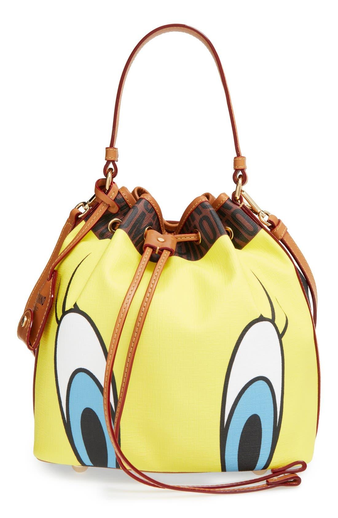 'LooneyTunes - Tweety& Sylvester' Bucket Bag, Main, color, 200