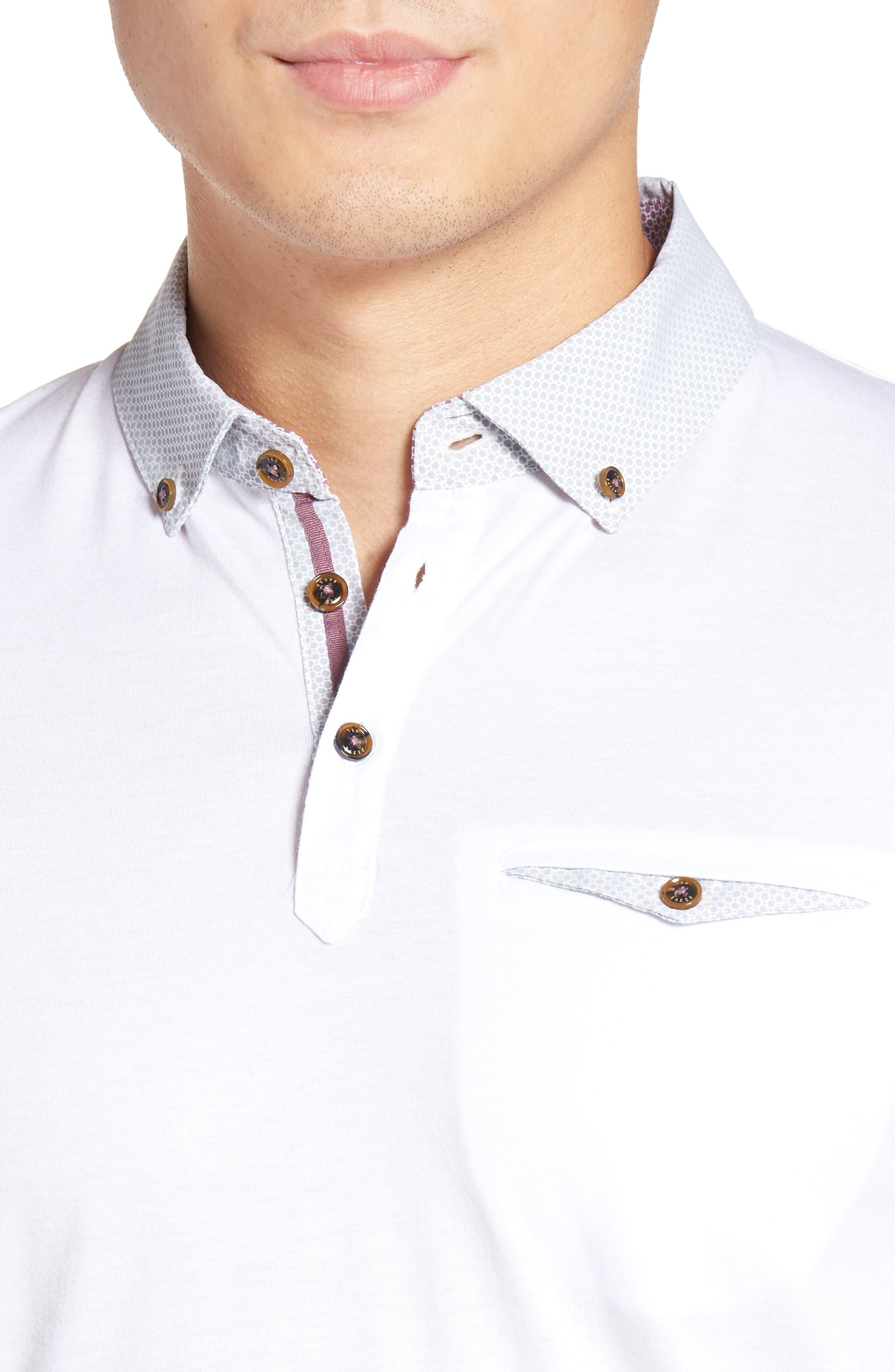 Woven Collar Polo,                             Alternate thumbnail 16, color,