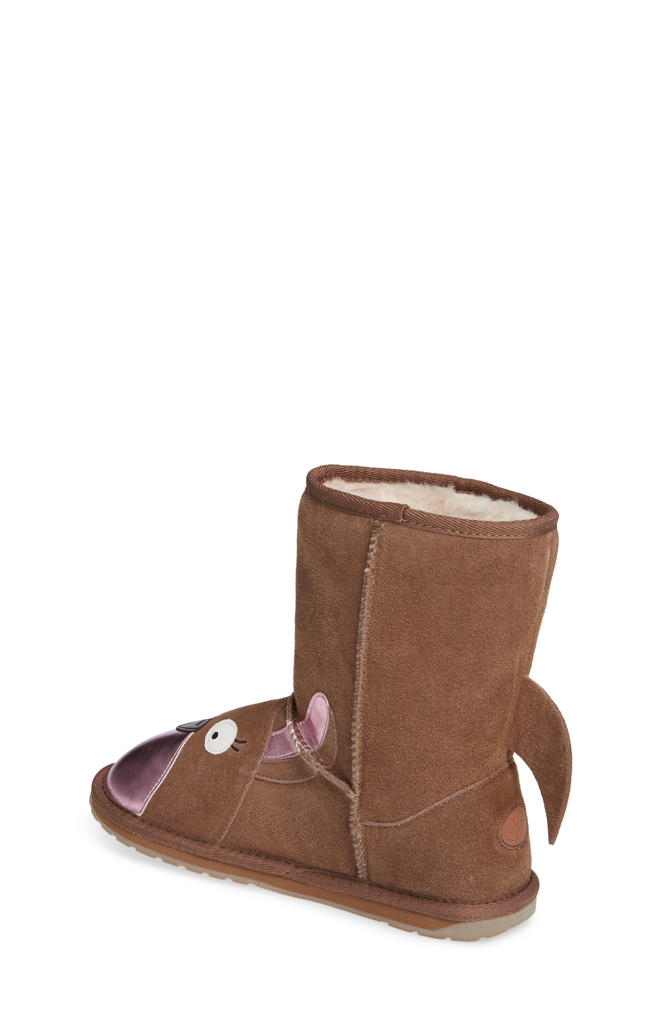 Kanga Wool Lined Boot,                             Alternate thumbnail 2, color,                             OAK