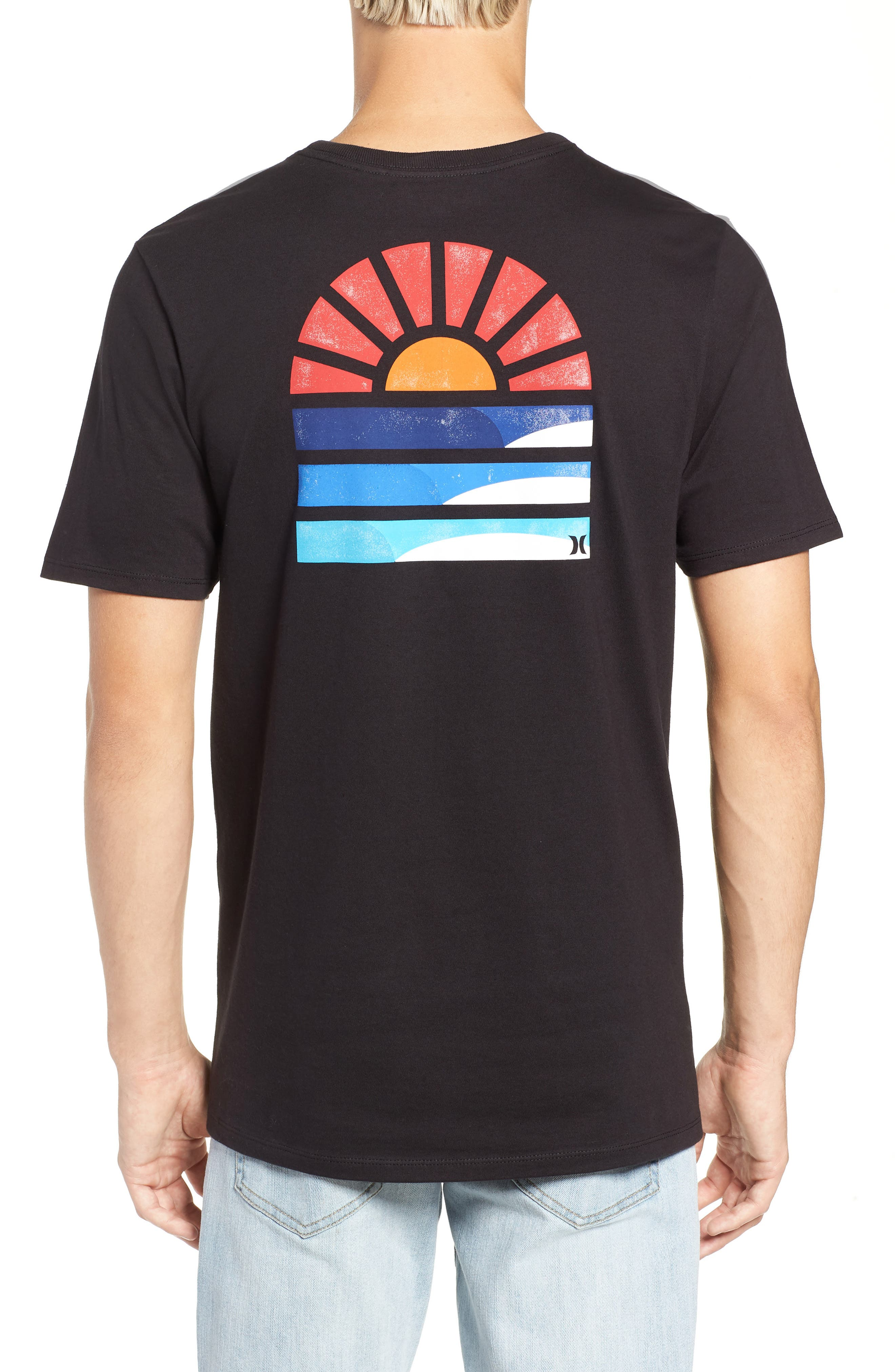Core Sunset T-Shirt,                             Alternate thumbnail 2, color,                             BLACK