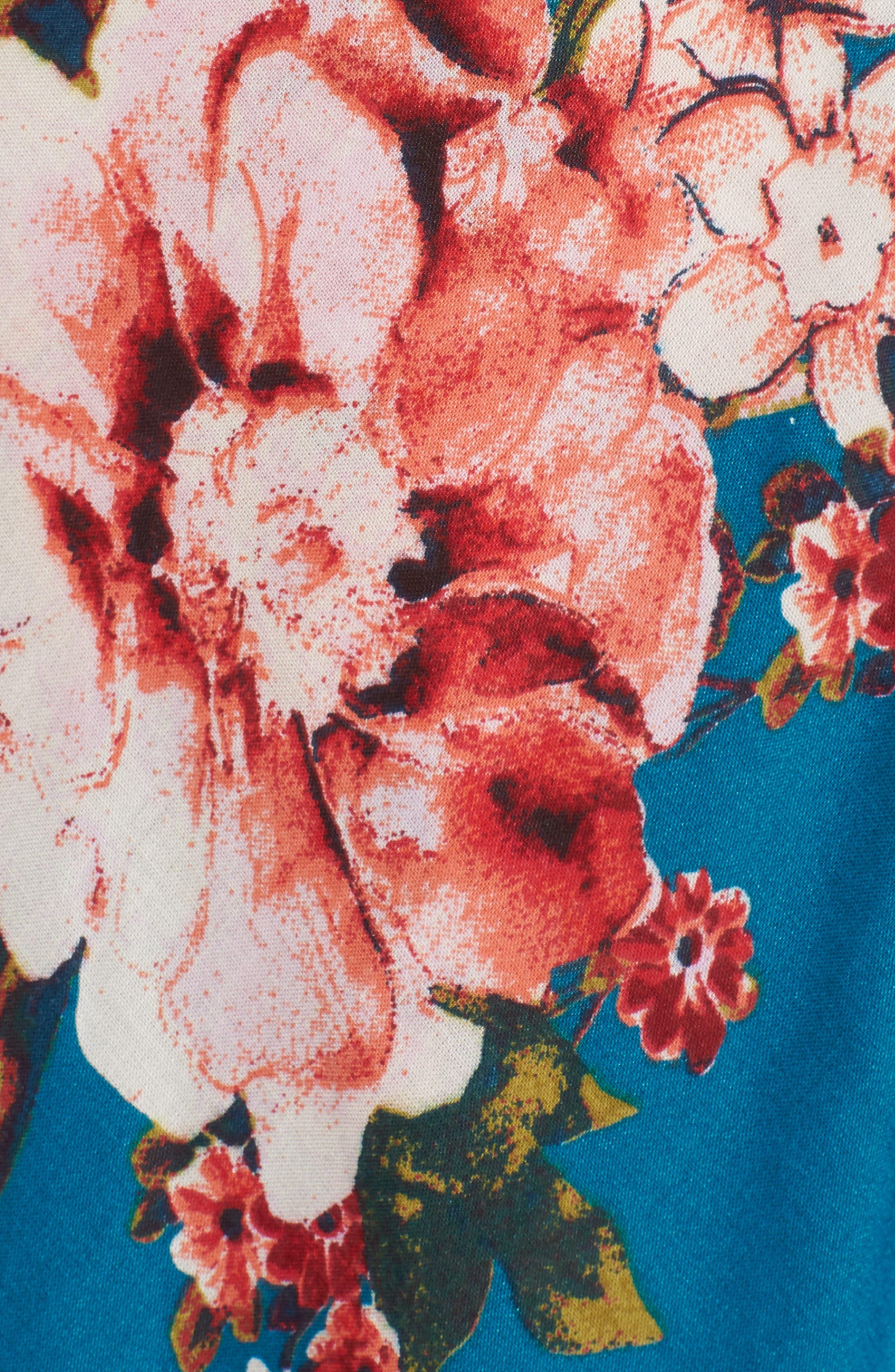 Lace Up Cold Shoulder Maxi Dress,                             Alternate thumbnail 5, color,                             402