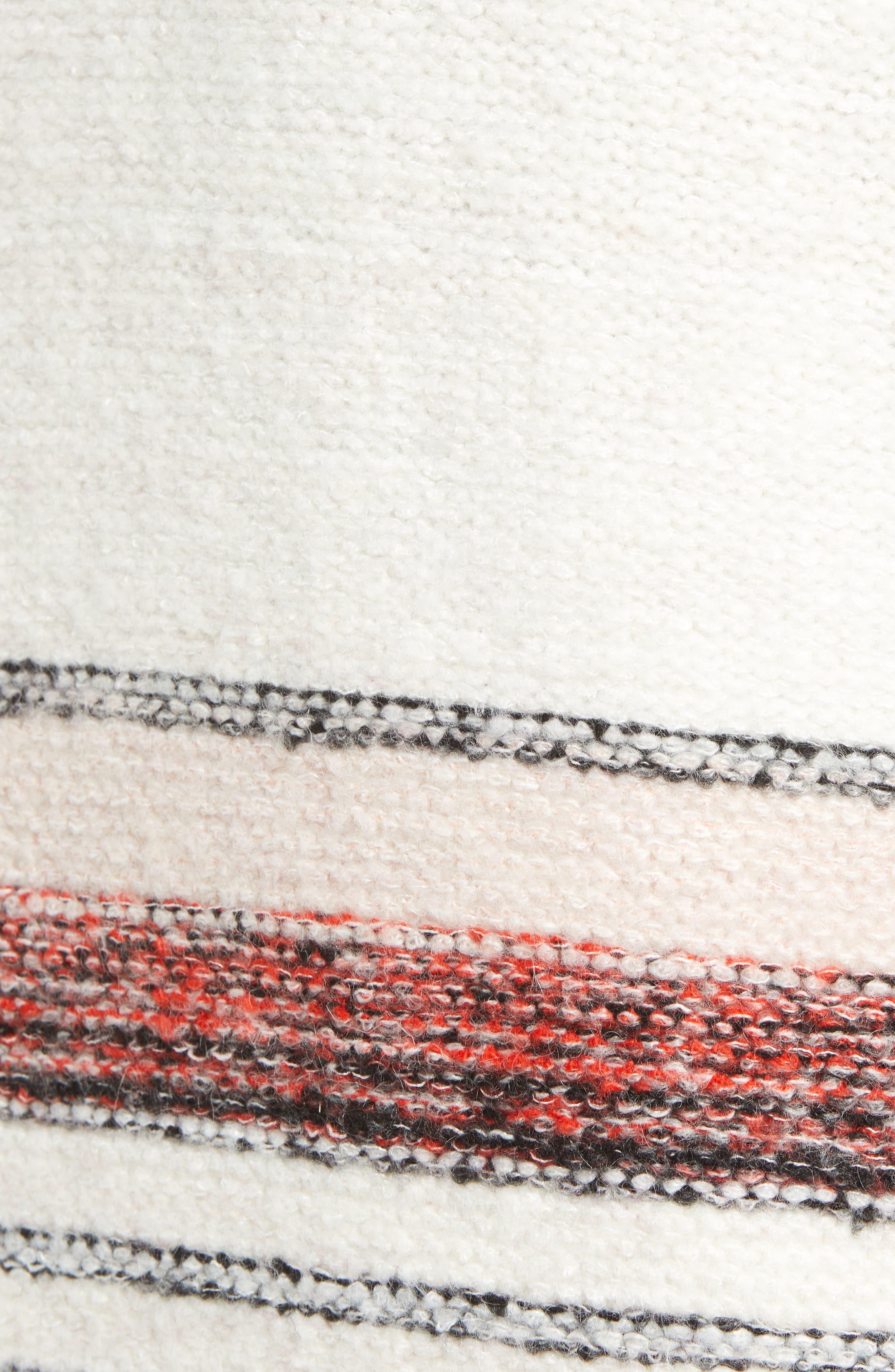 Border Stripe Sweater,                             Alternate thumbnail 5, color,                             IVORY COMBO