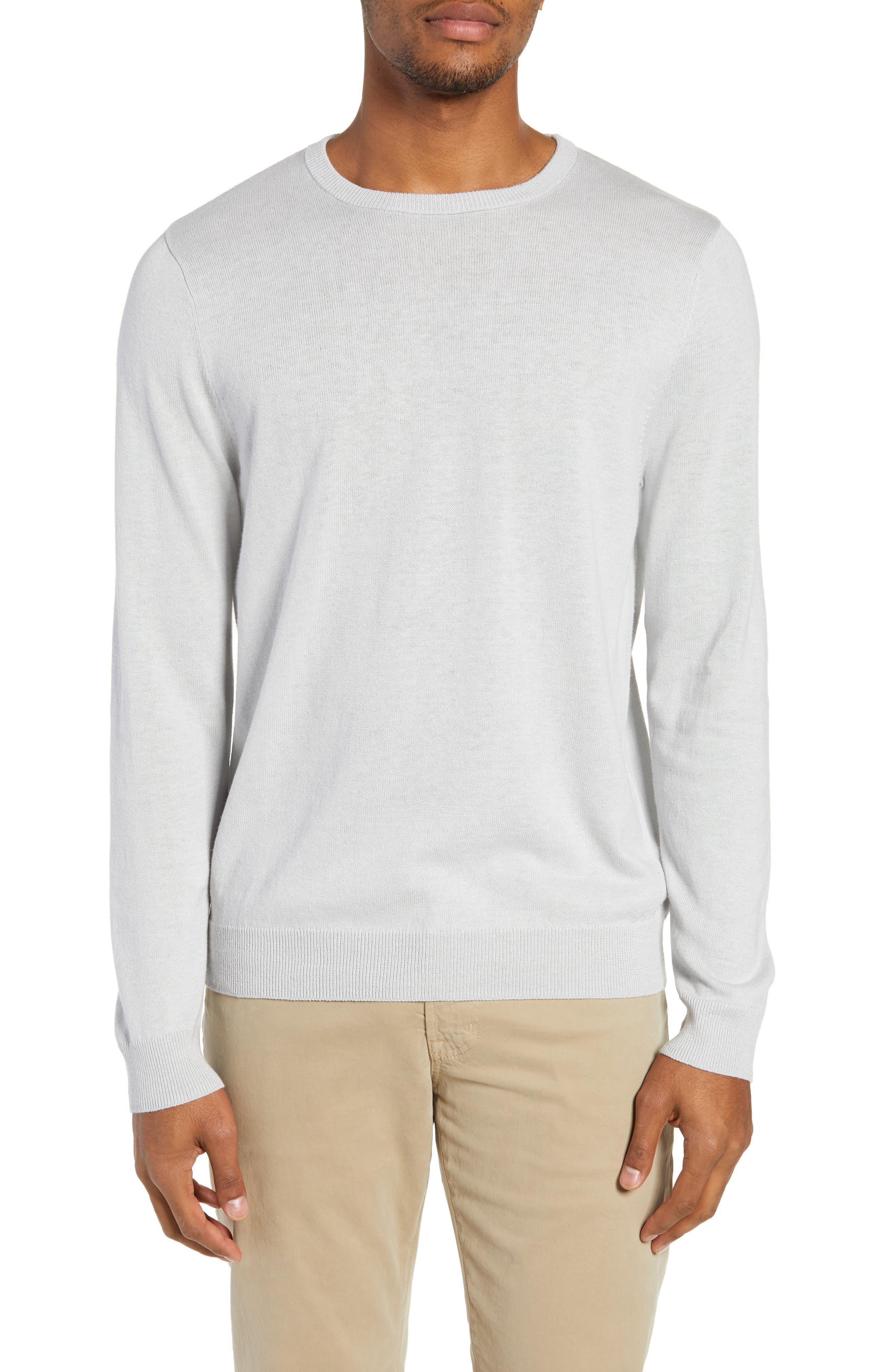 Nordstrom Shop Regular Fit Crewneck Sweater, White