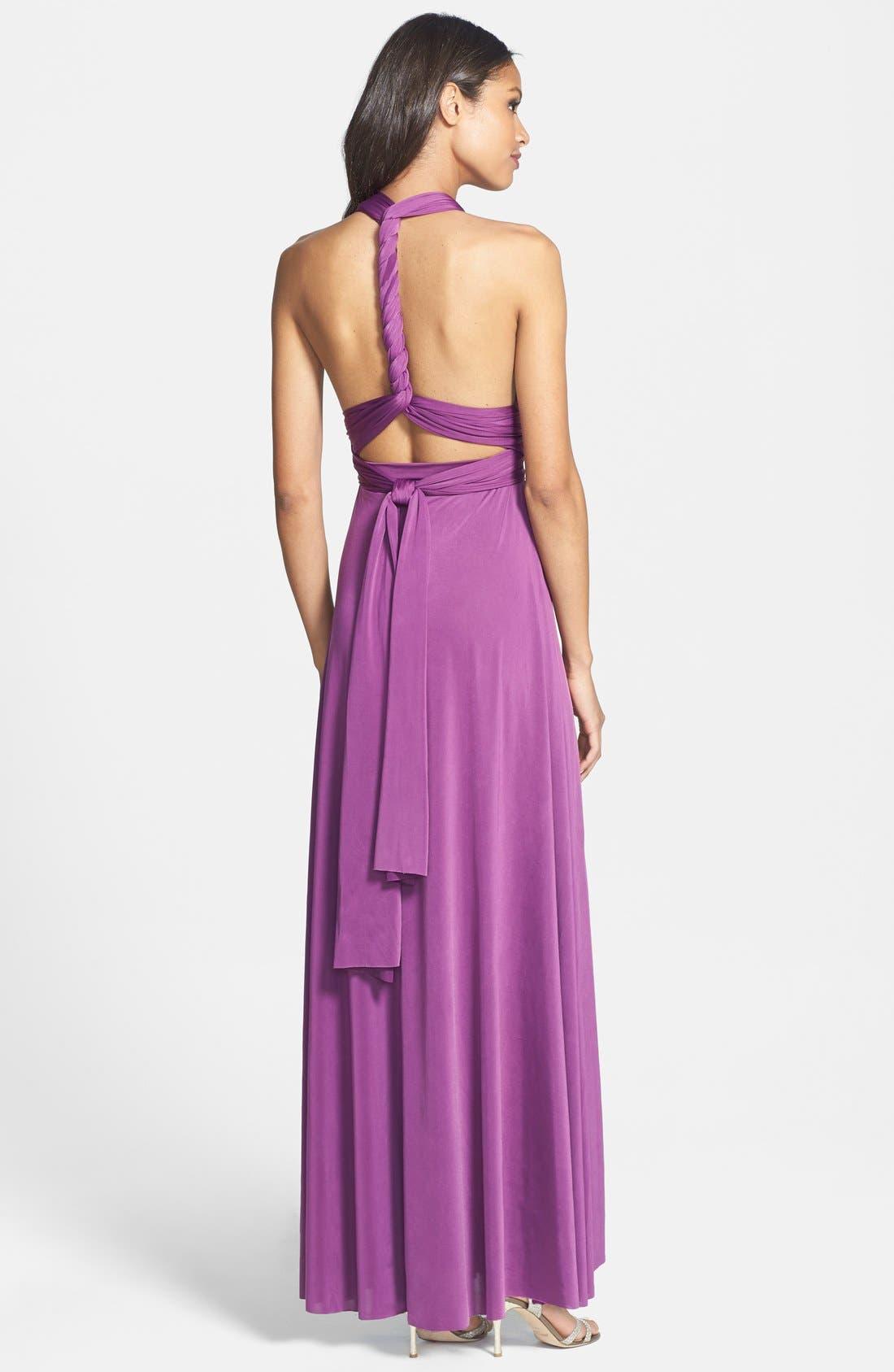 Convertible Wrap Tie Surplice Jersey Gown,                             Alternate thumbnail 40, color,