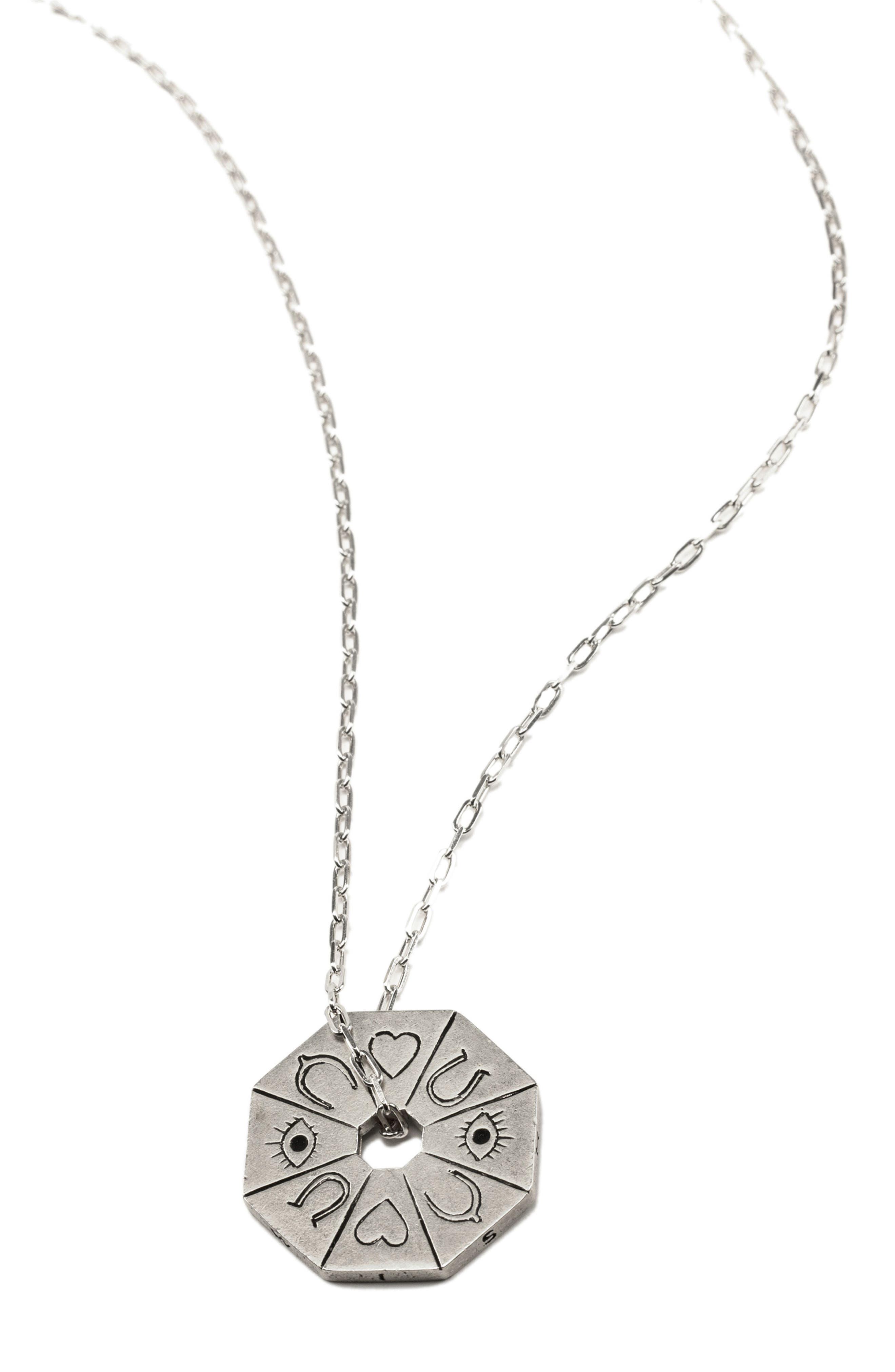 Petalbox Wish Spinner Pendant Necklace,                             Alternate thumbnail 3, color,                             040