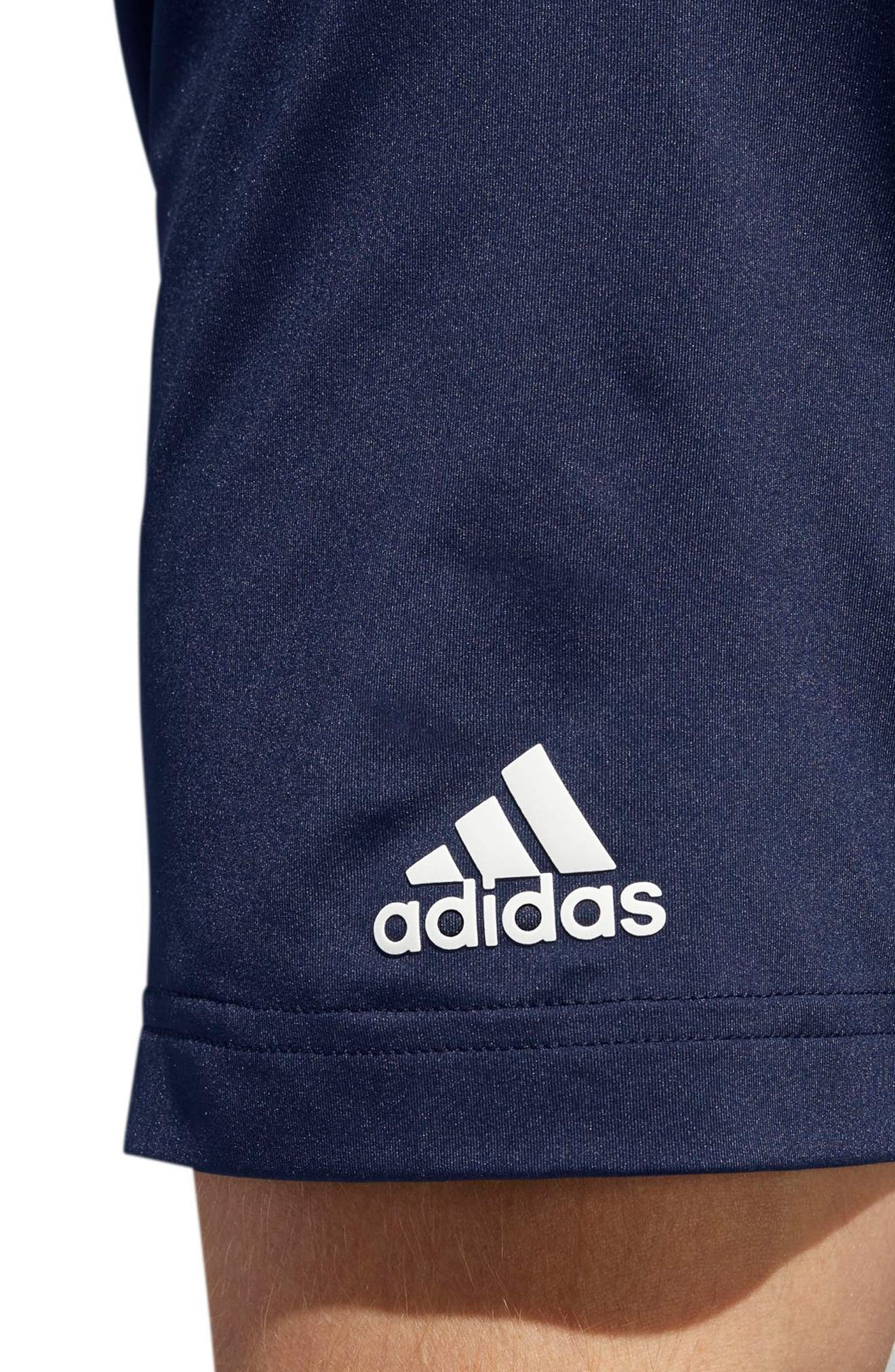 adidas Ultimate Stripe Regular Fit Polo Shirt,                             Alternate thumbnail 4, color,                             GREY/ NAVY