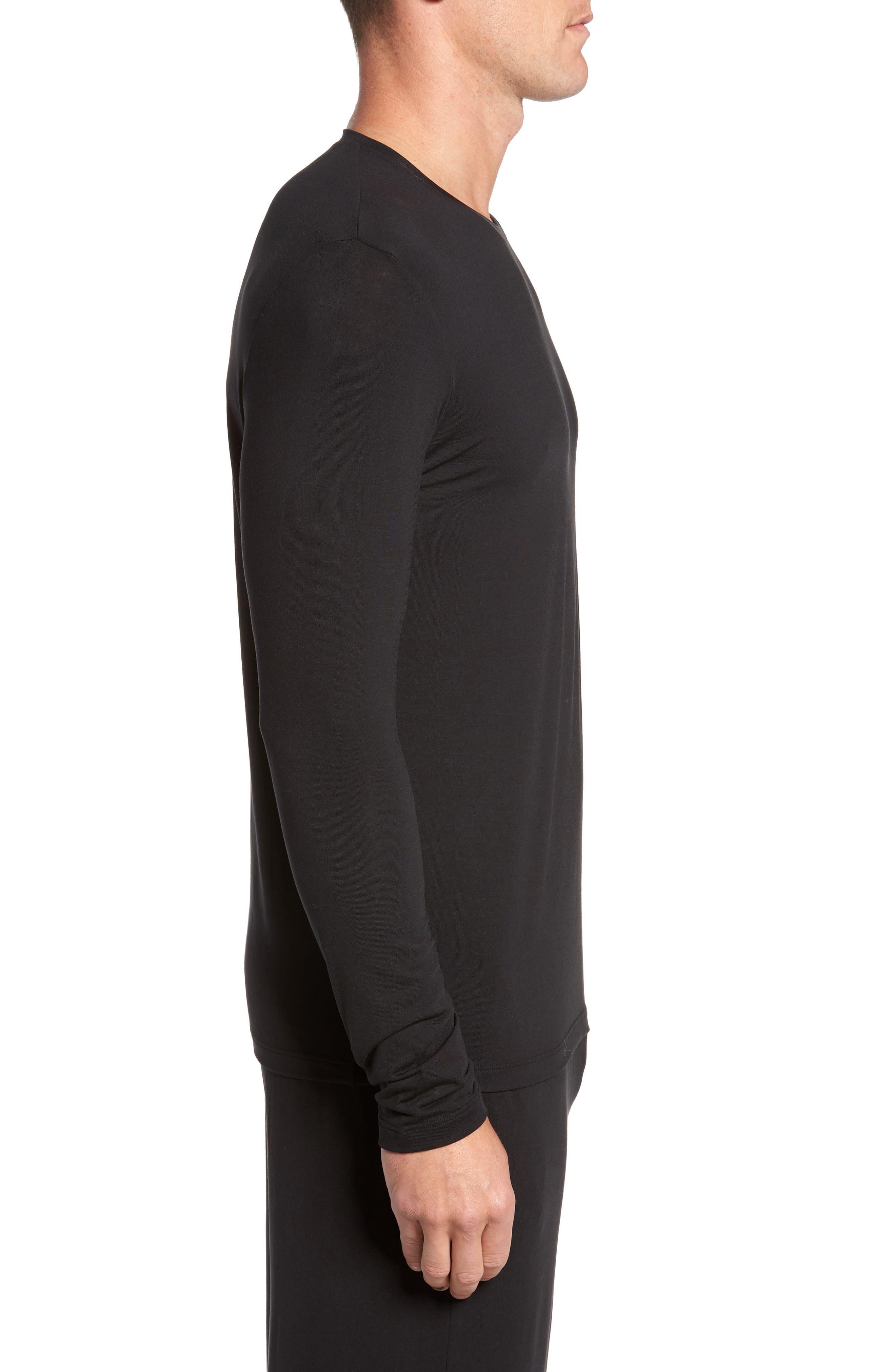 Second Skin T-Shirt,                             Alternate thumbnail 3, color,                             BLACK