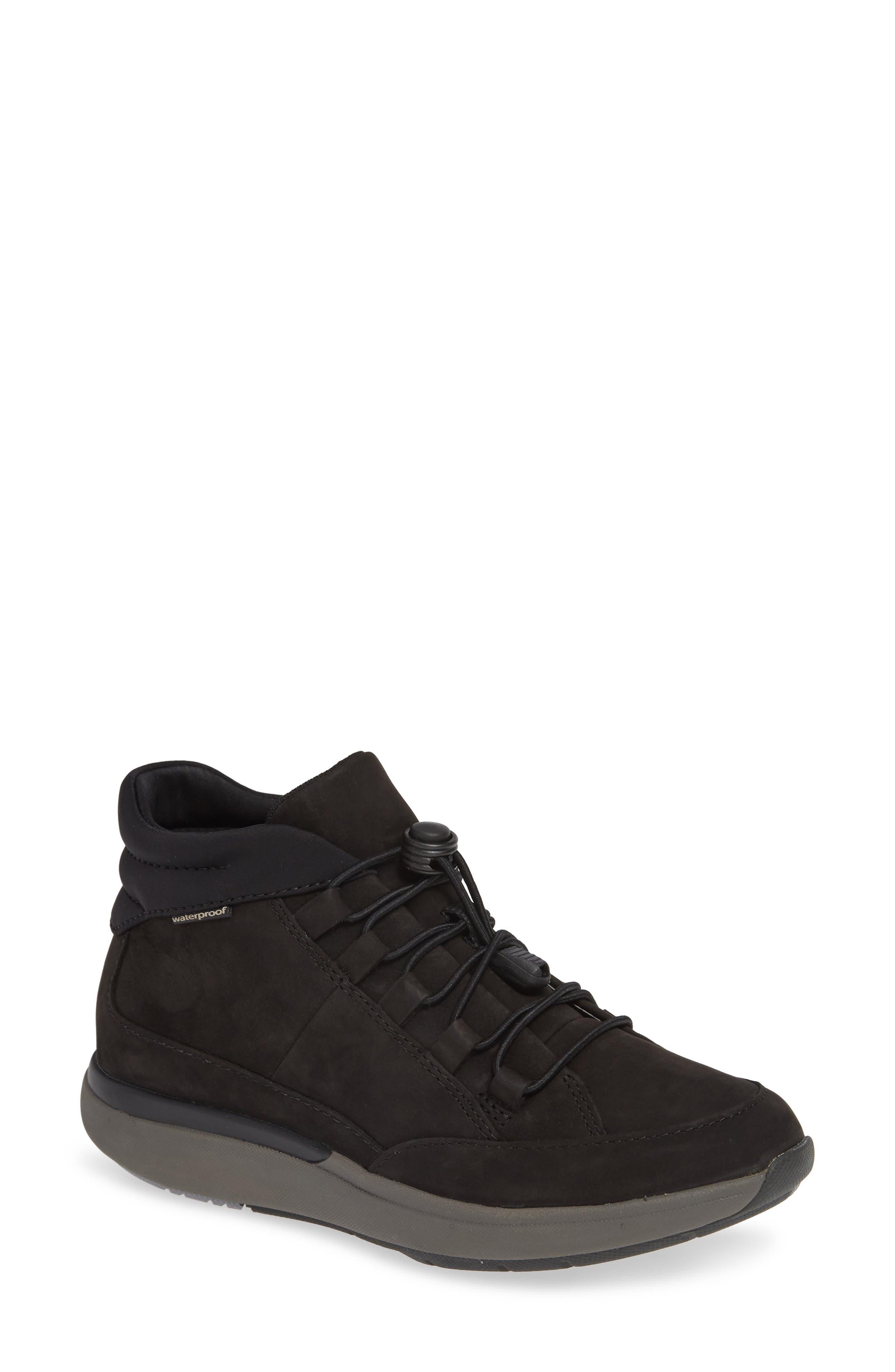 Un Cruise Lace-Up Sneaker, Main, color, BLACK NUBUCK