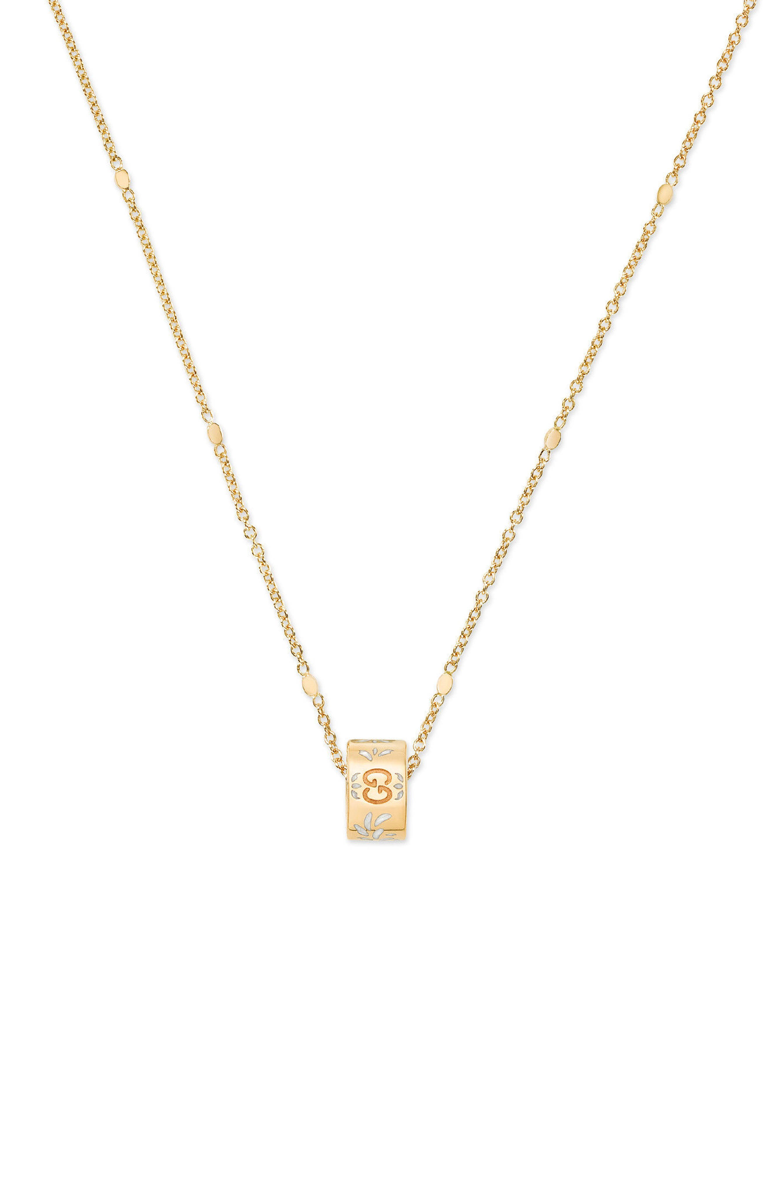 Icon Pendant Necklace,                             Main thumbnail 1, color,                             YELLOW GOLD