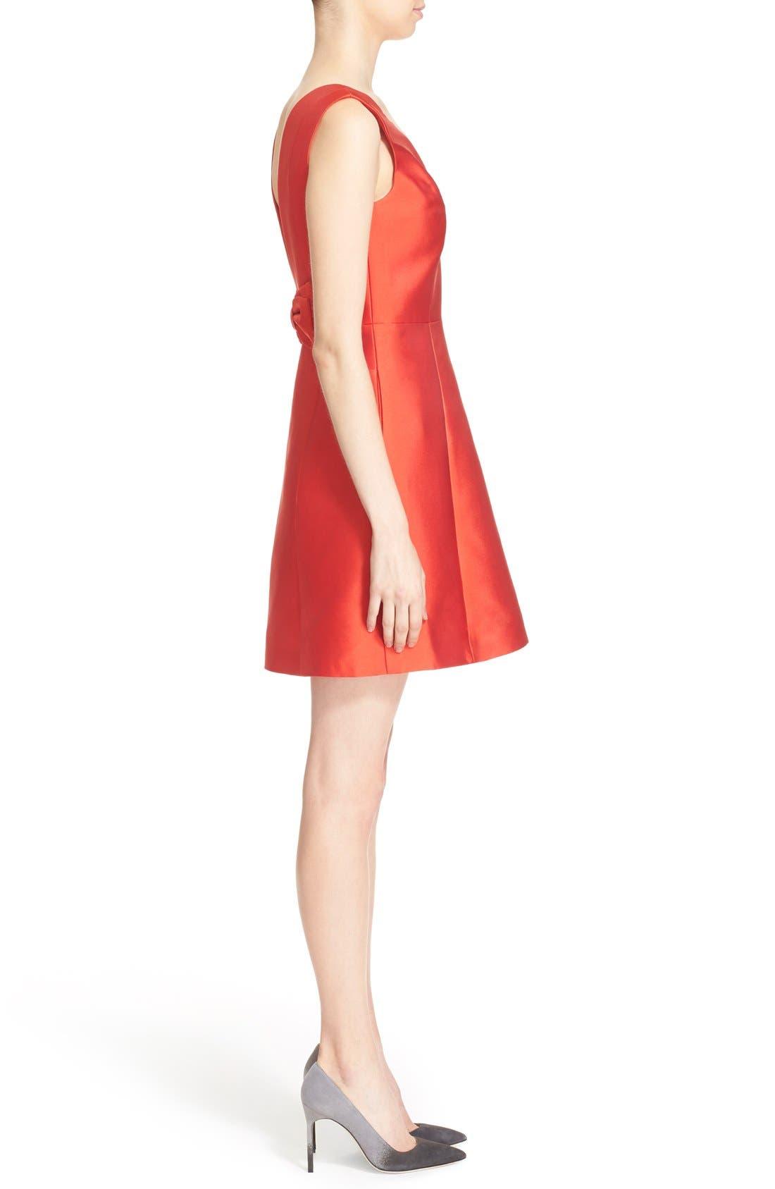 open back bow dress,                             Alternate thumbnail 4, color,                             601