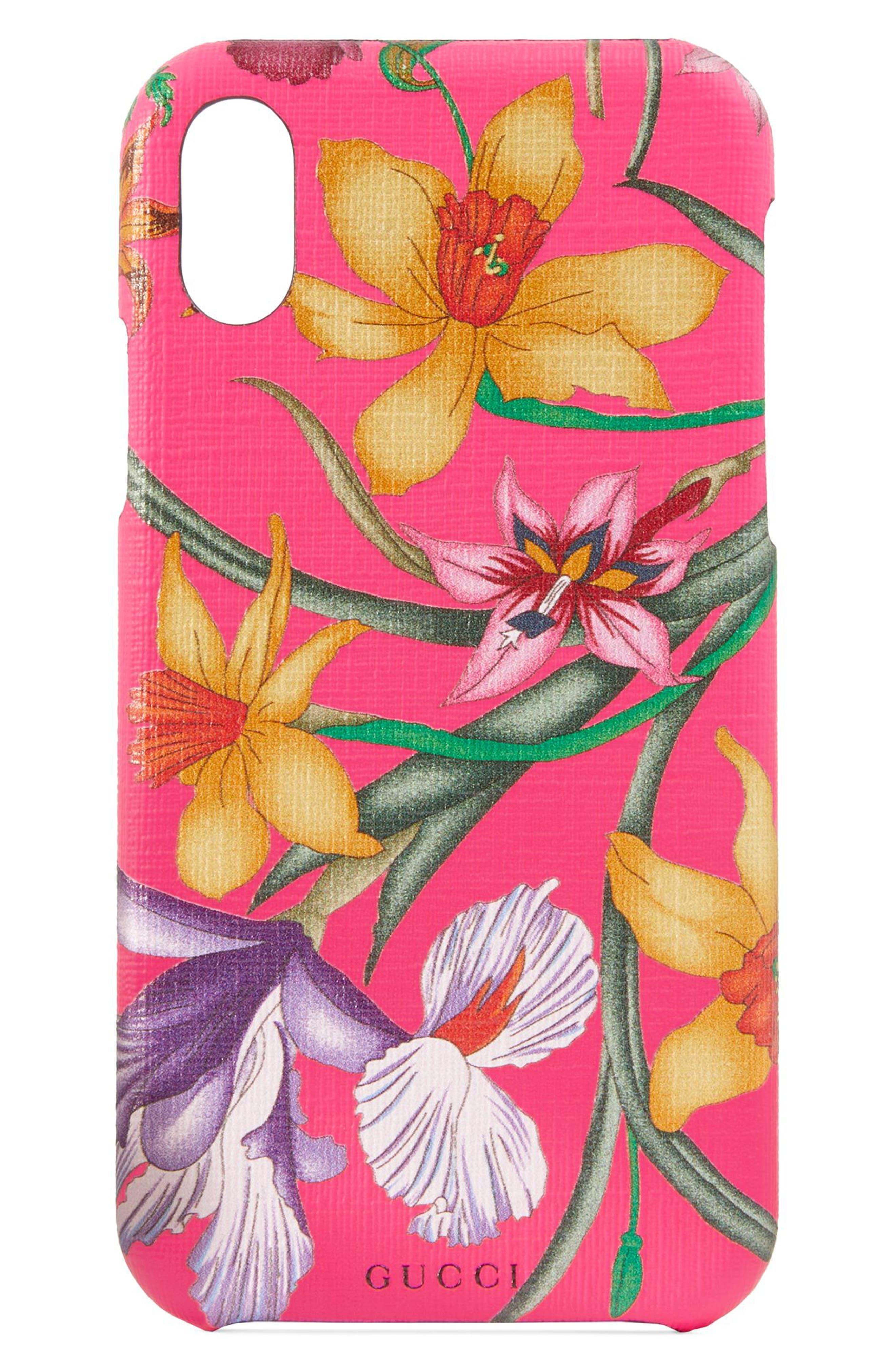 GG Blooms iPhone X/Xs Case, Main, color, FUXIA FLOURESCENT MULTI
