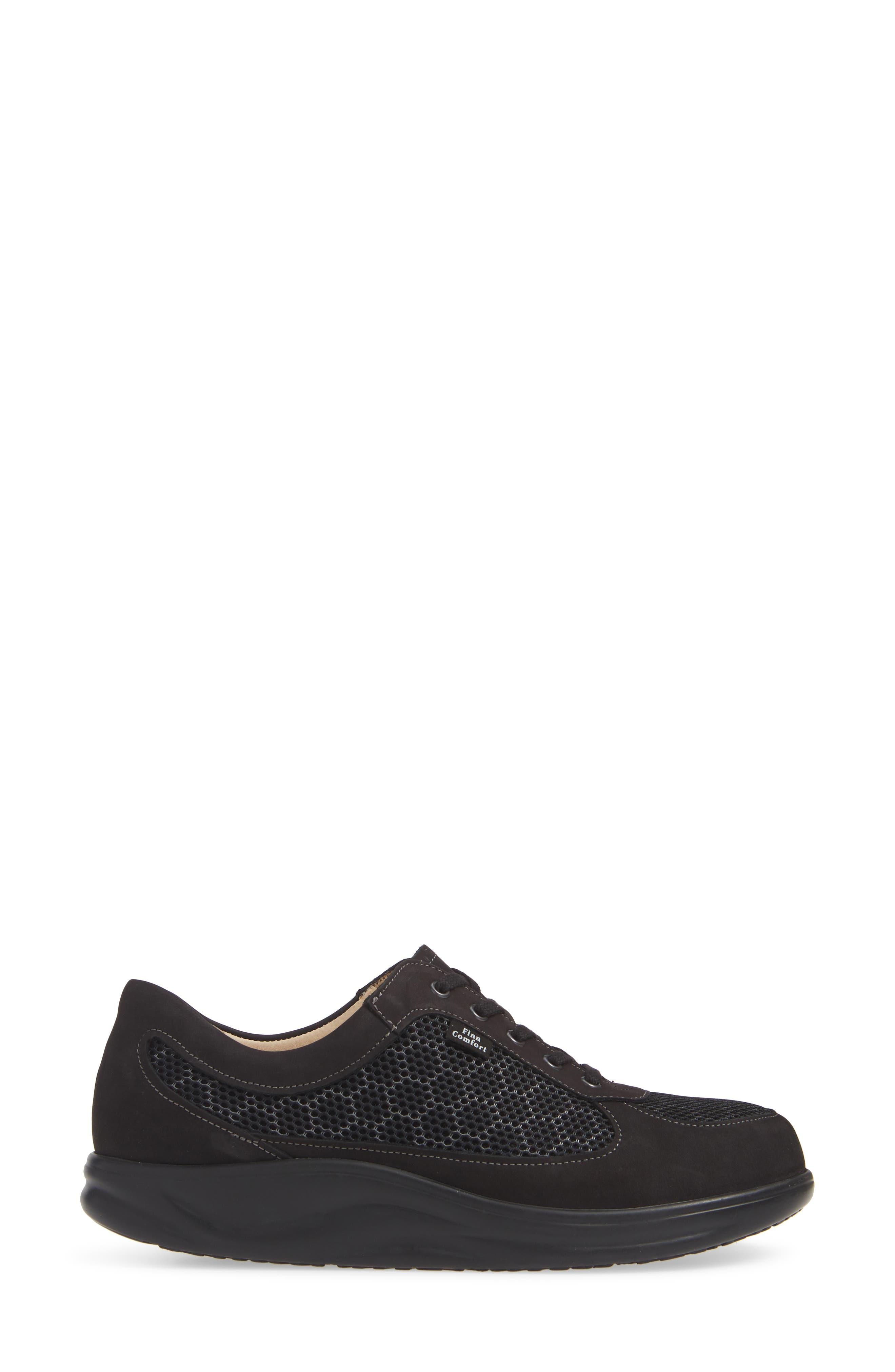 'Columbia' Sneaker,                             Alternate thumbnail 3, color,                             BLACK NUBUCK LEATHER