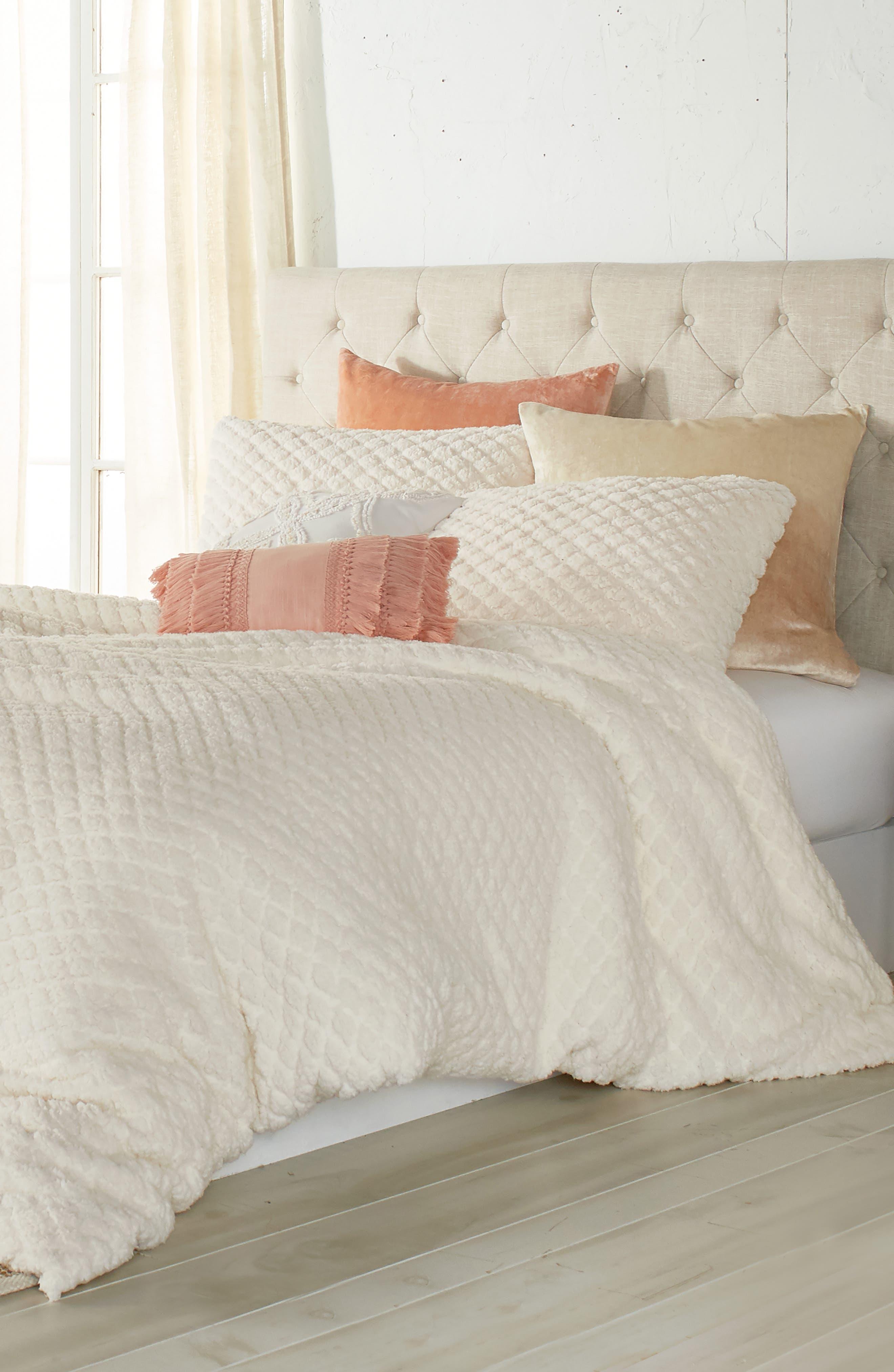 Diamond High Pile Fleece Comforter & Sham Set, Main, color, 902