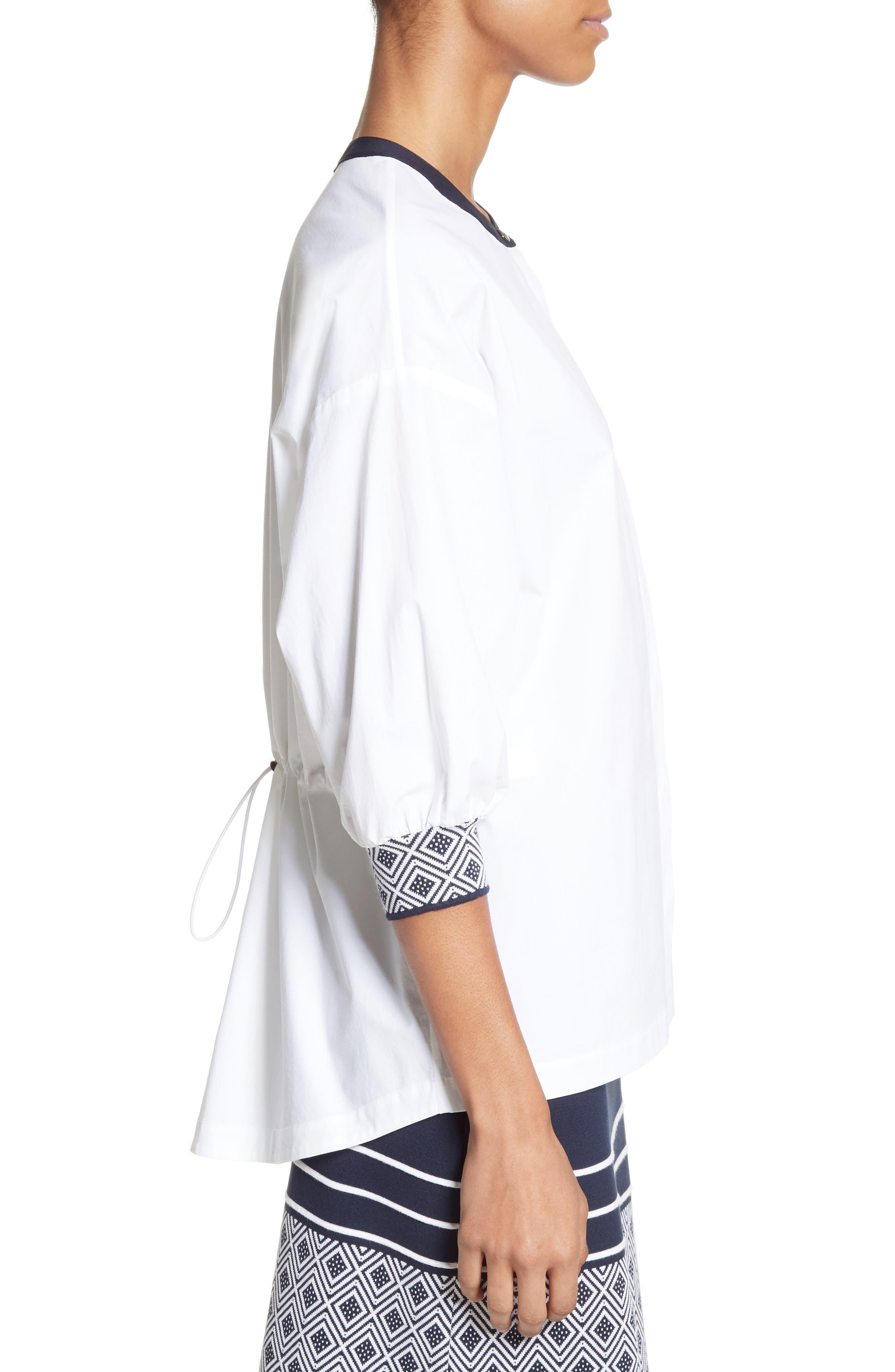 Devika Tile Techno Stretch Cotton Shirt,                             Alternate thumbnail 3, color,