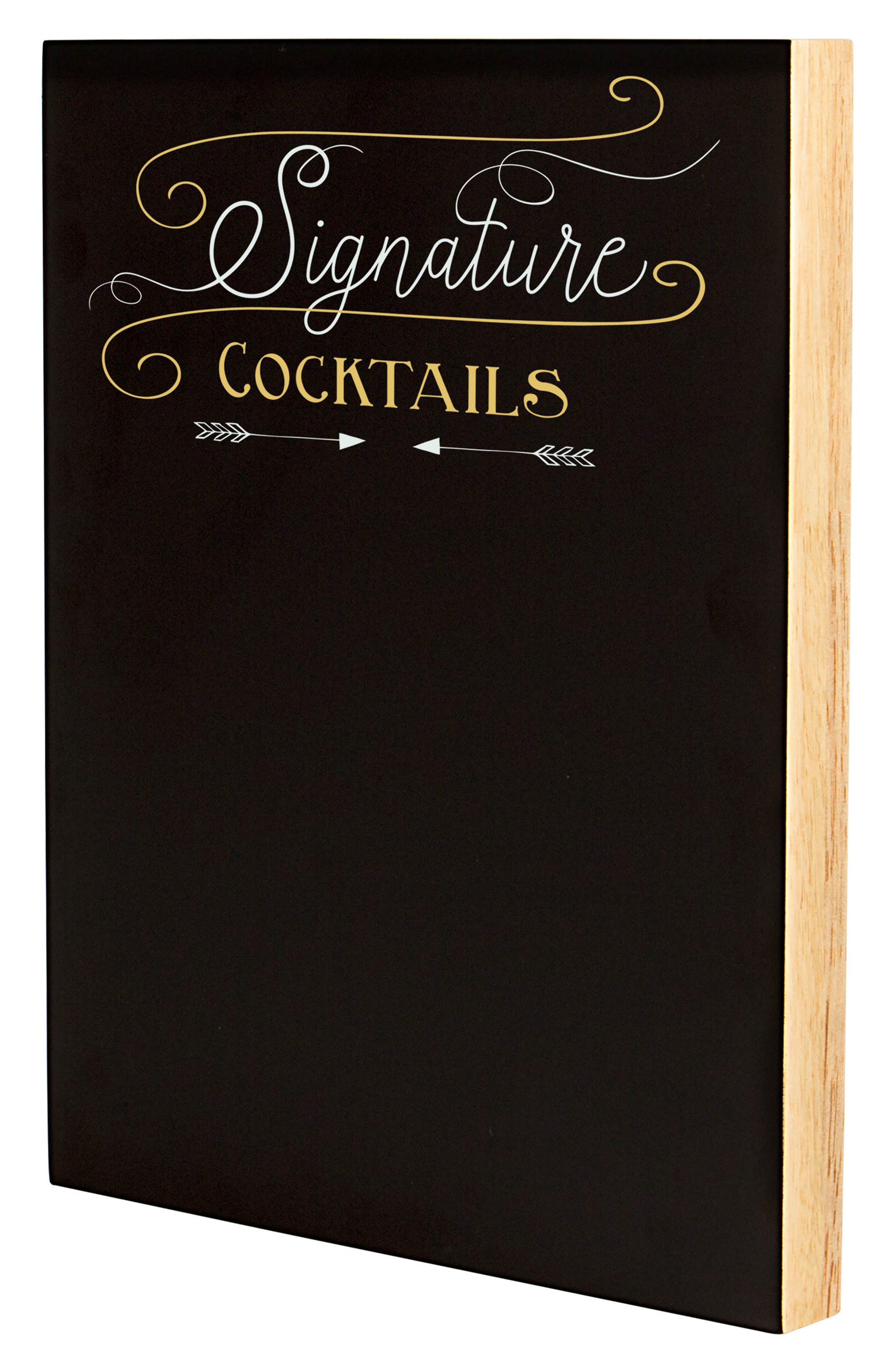 Cocktail Menu Chalkboard Sign,                             Alternate thumbnail 6, color,                             001