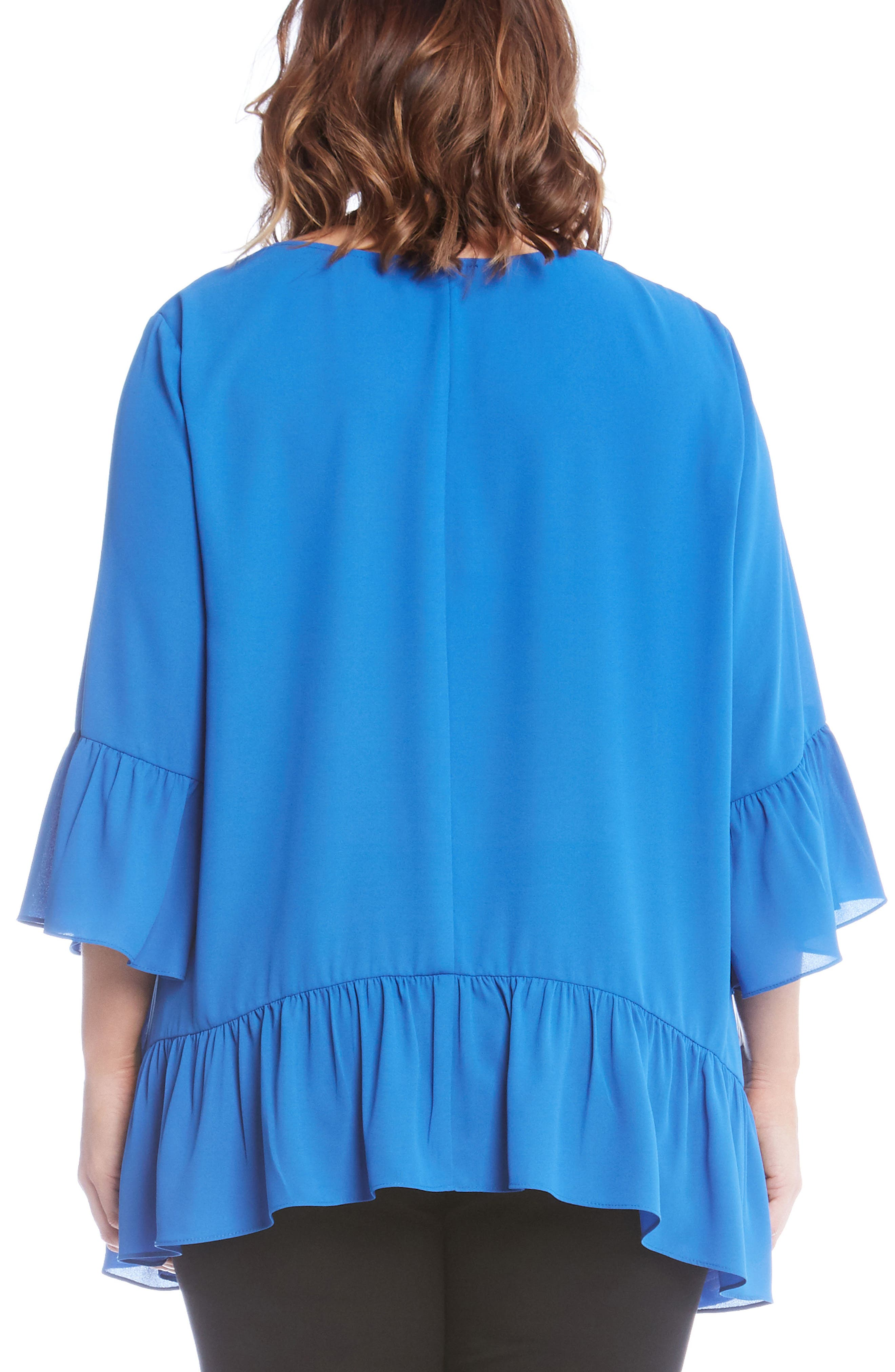 Ruffle Hem Top,                             Alternate thumbnail 5, color,