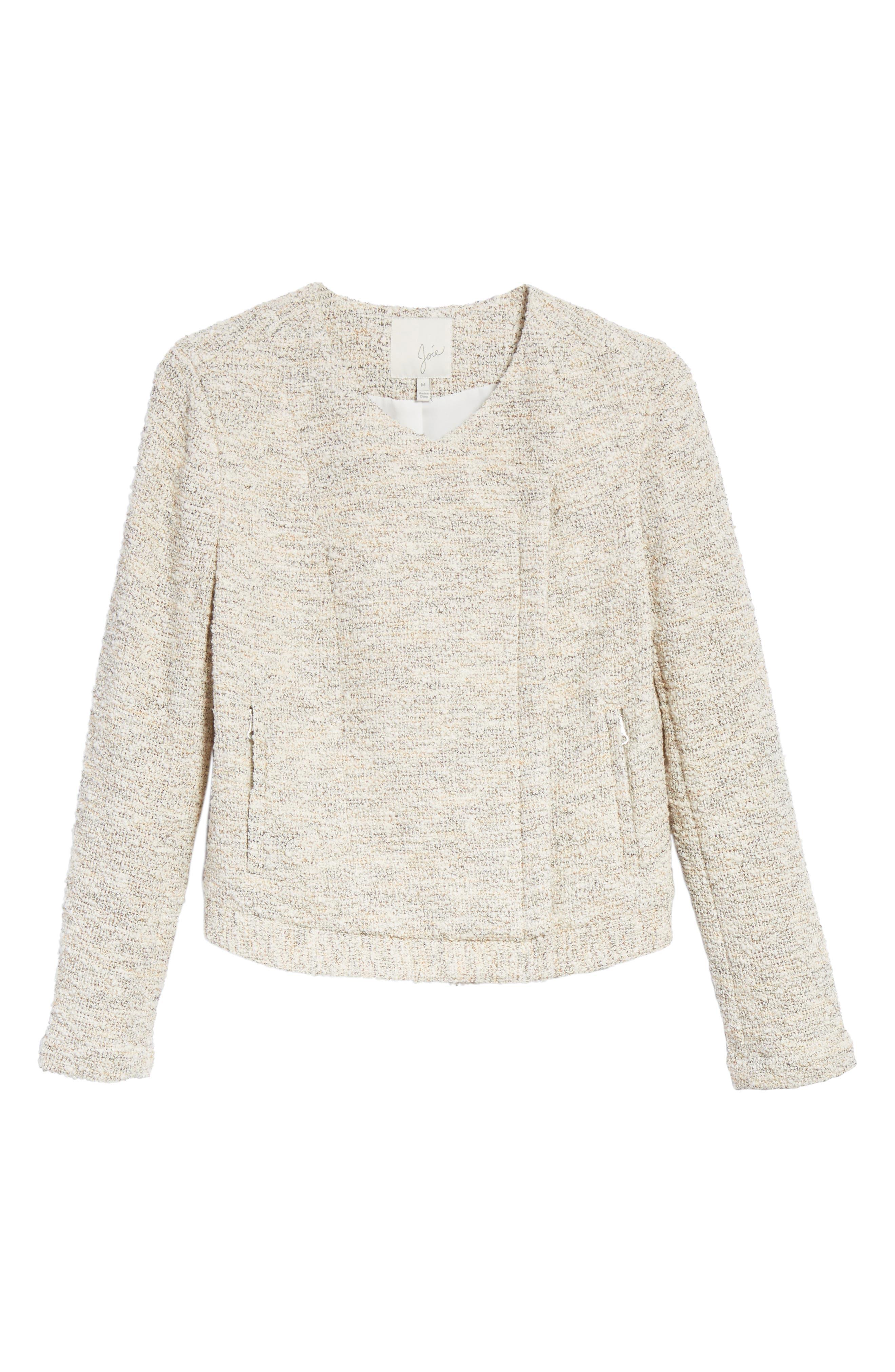 'Balina' Tweed Jacket,                             Alternate thumbnail 5, color,                             114